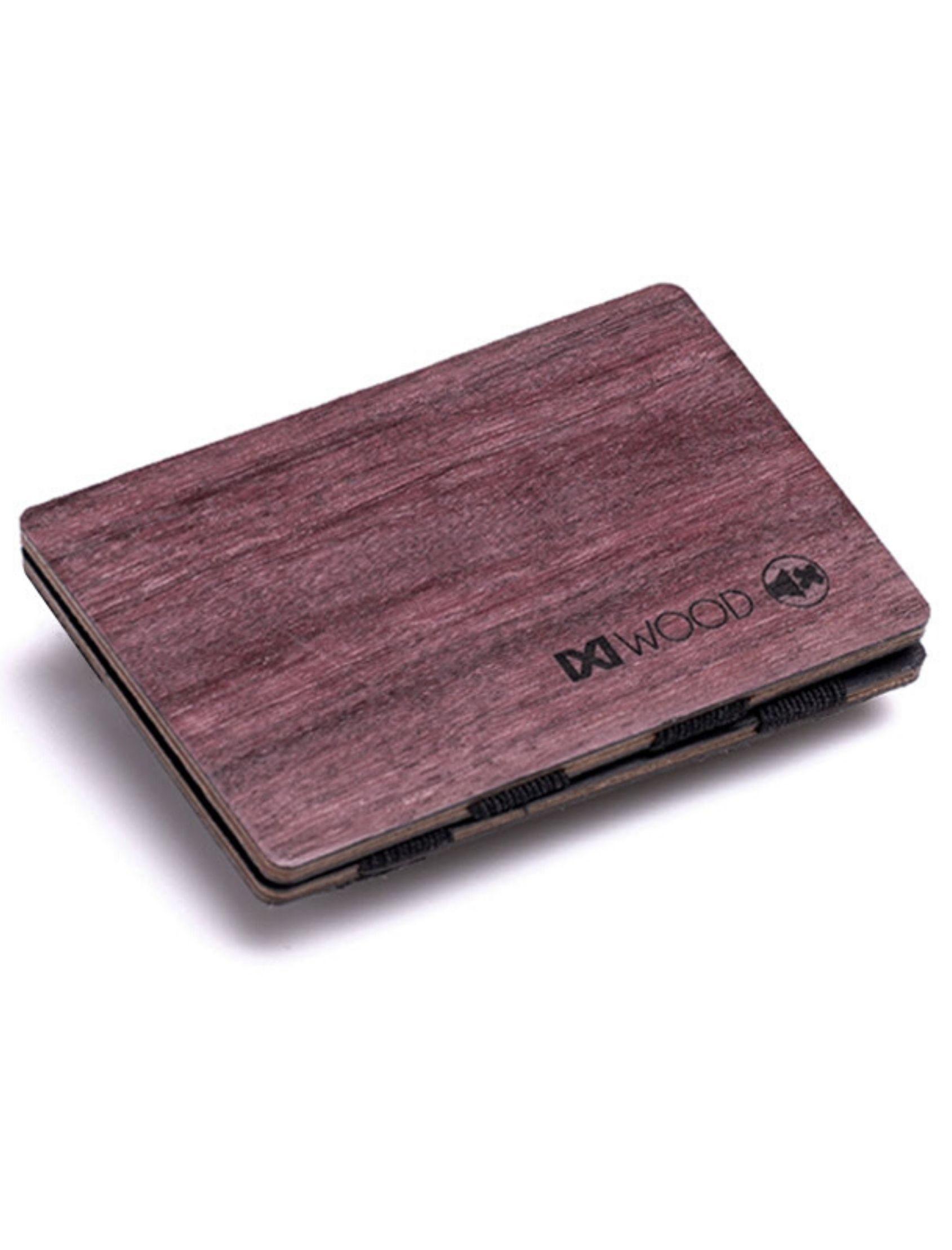 cartera amaranto de madera de ixi wood