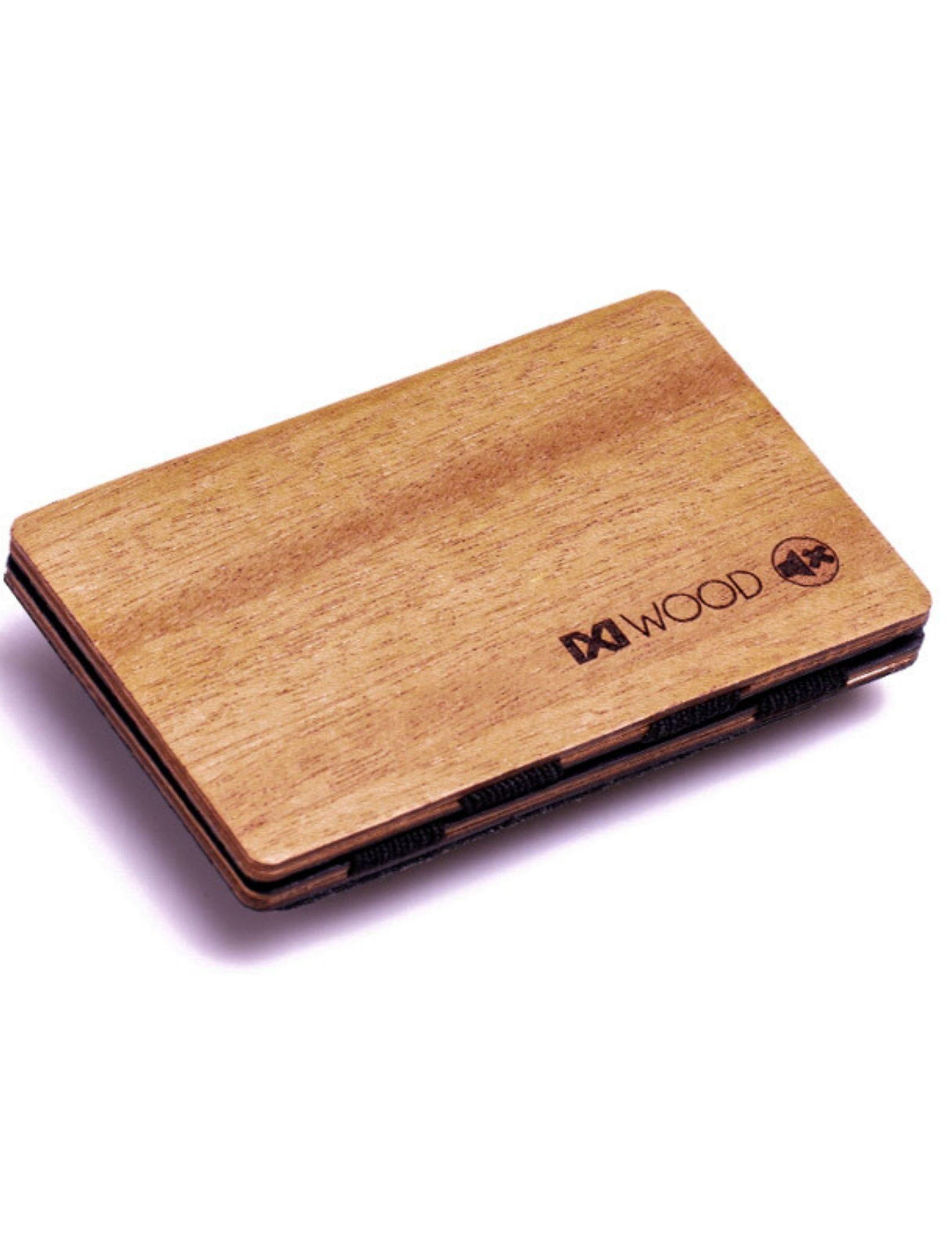cartera IROKO de madera IXI WOOD