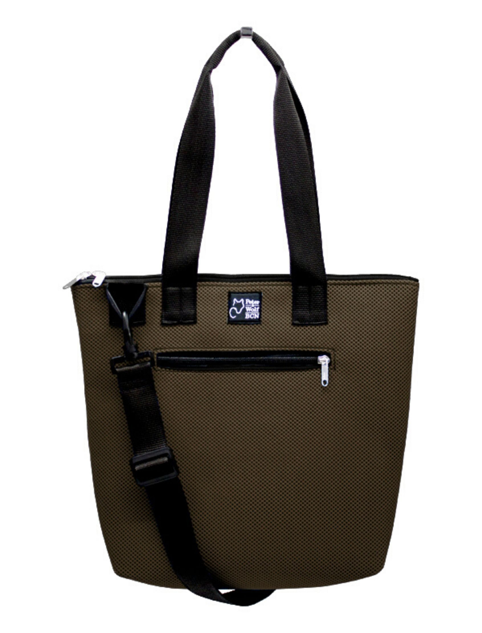 BOLSO BARCO SPORT BROWN DE PETER AND WOLF BARCELONA. EN COLOR MARRÓN Y CON TEJIDO TECNICO 3D