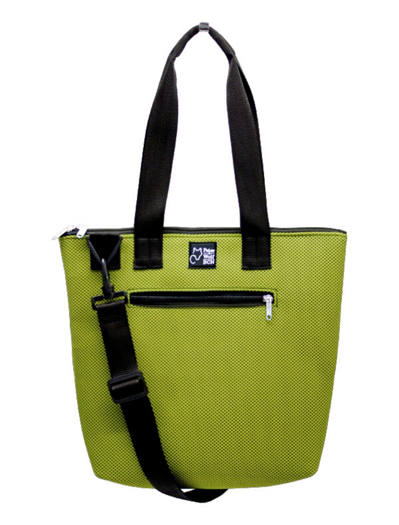 bolso sport barco pistacchio de peter and wolf barcelona. Color verde pistacho y tejido técnico 3d