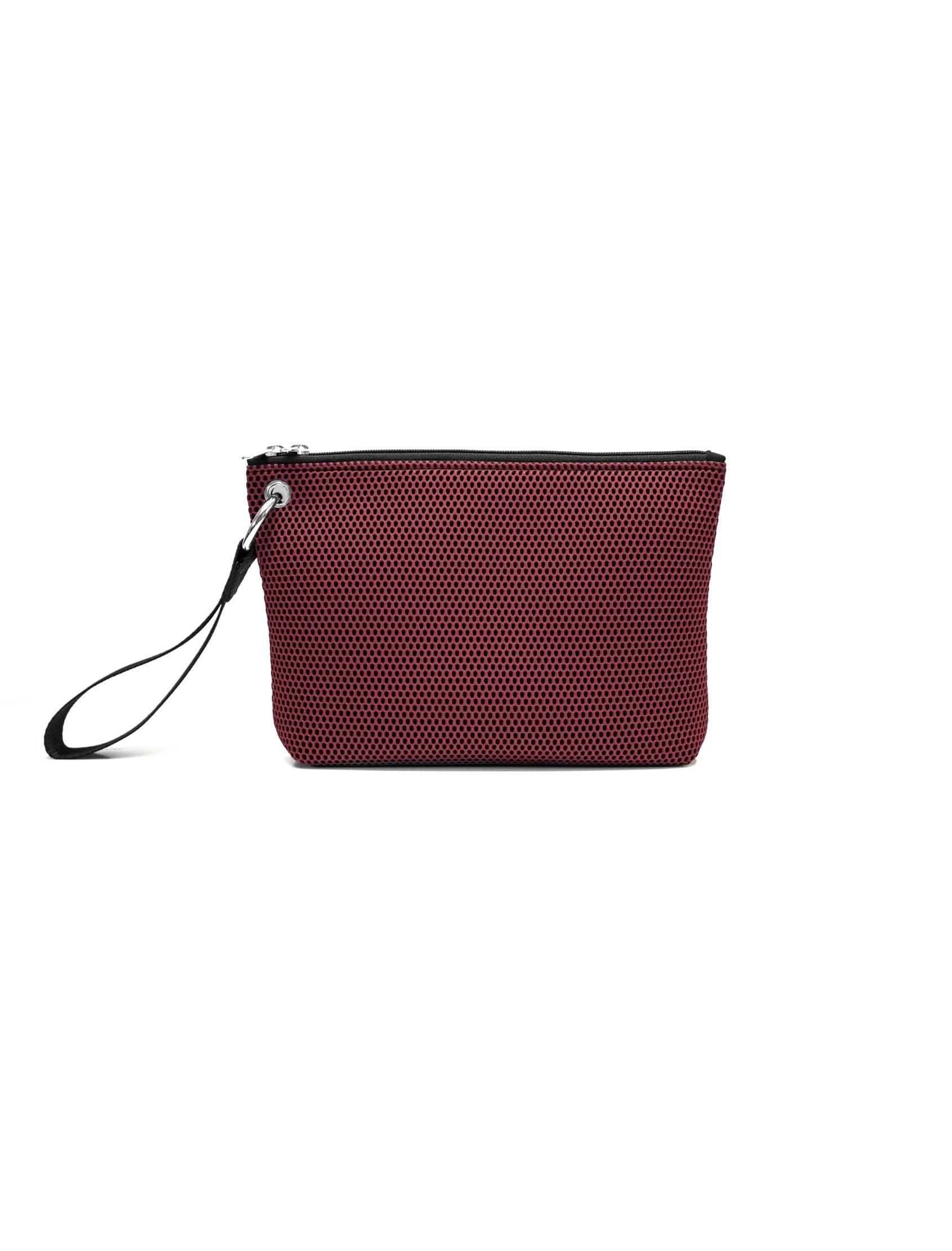 bolso de mano de Peter&Wolf con tejido ténico 3d en color Bordeaux