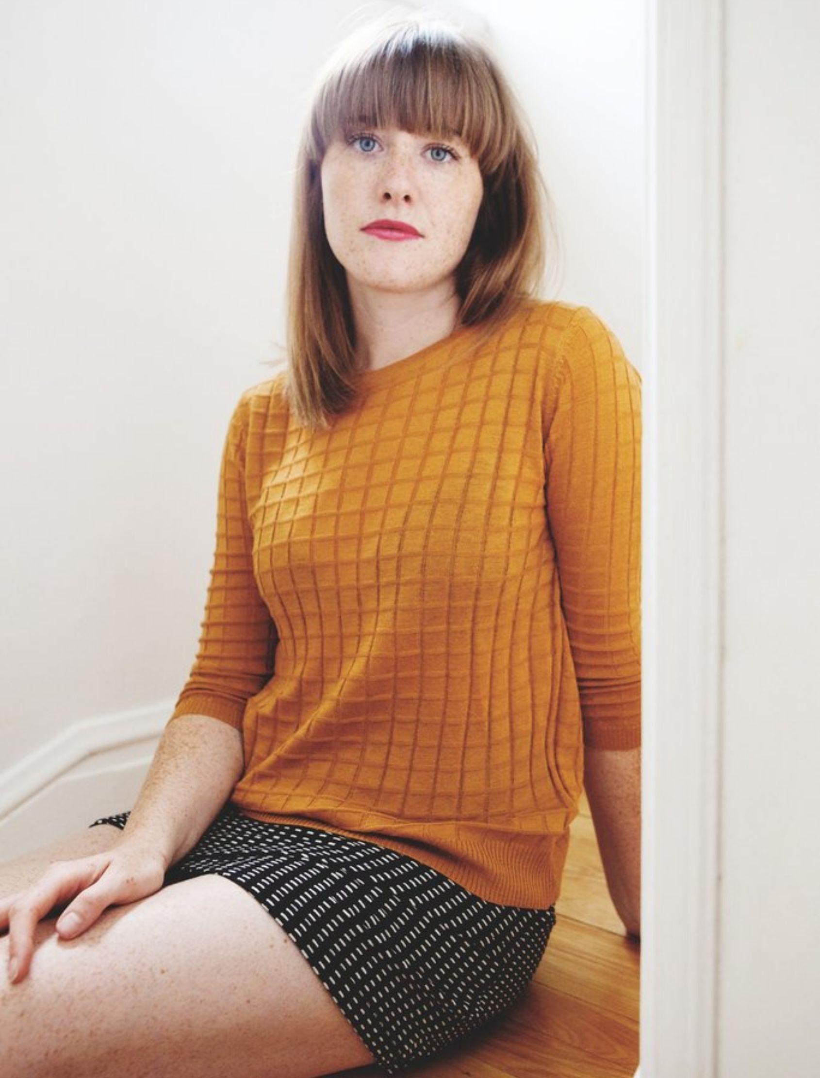 jersey de mujer de punto de la marca darling con trama de cuadritos