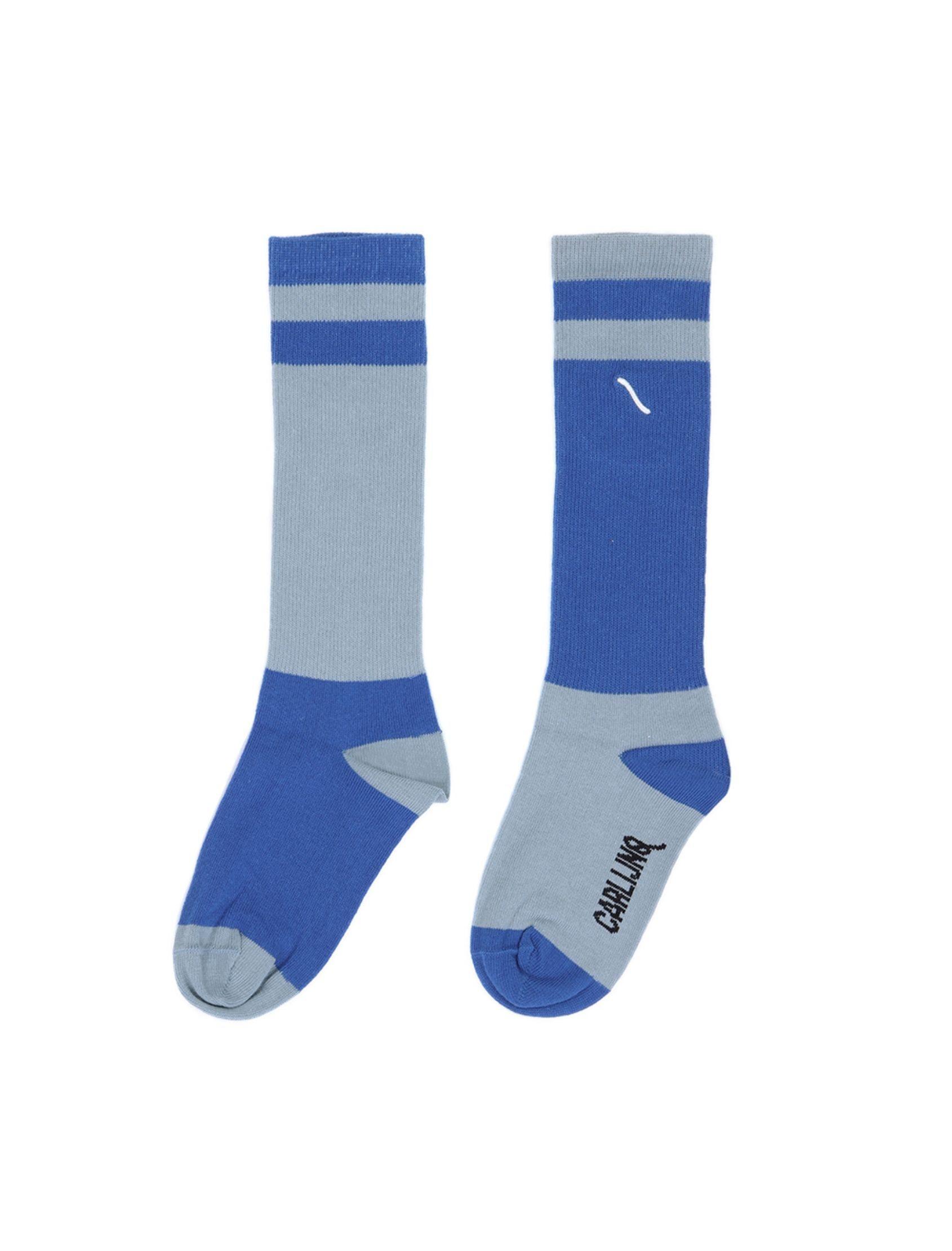 calcetines de niño y niña light blue blue con combinación de colores en azul