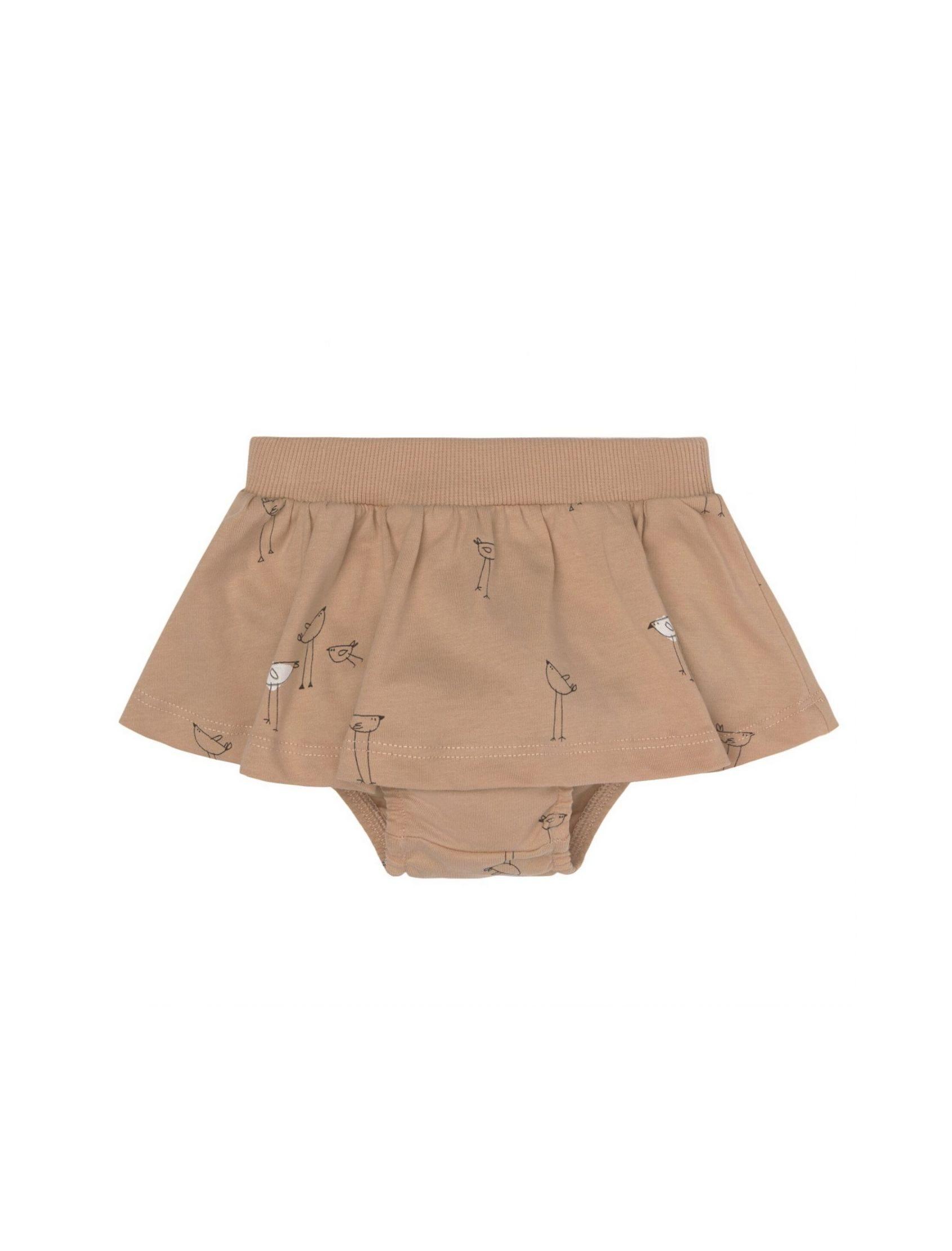 culotte con falda piu de baby clic en tono nude y mini estampado