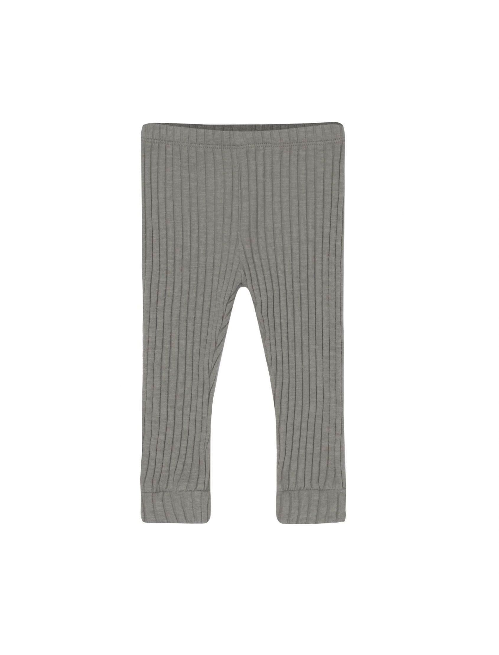 Legging unisex Rib en tono antracita con goma en la cintura y punto canale