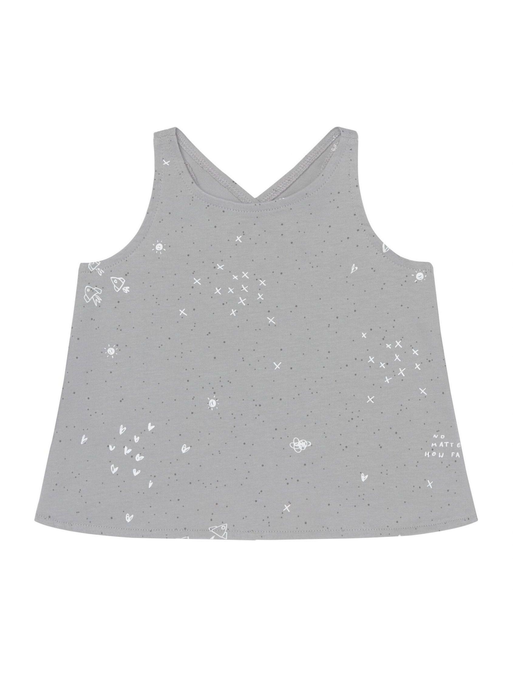 camiseta bang de niña con tirantes en punto de algodon espalda cruzada de baby clic