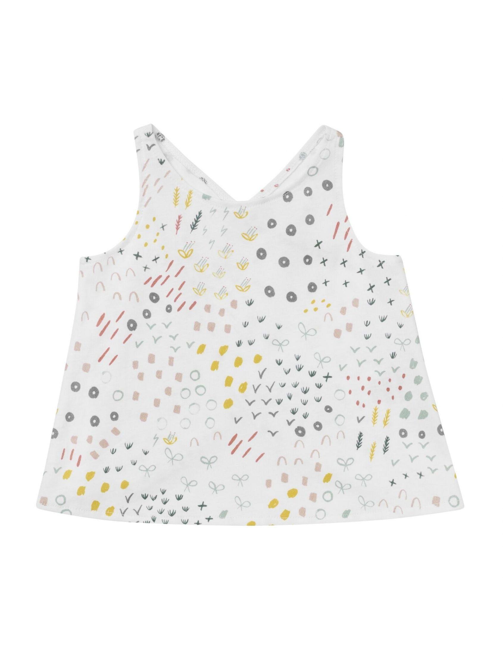 camiseta blom de niña con tirantes en punto de algodon espalda cruzada de baby clic
