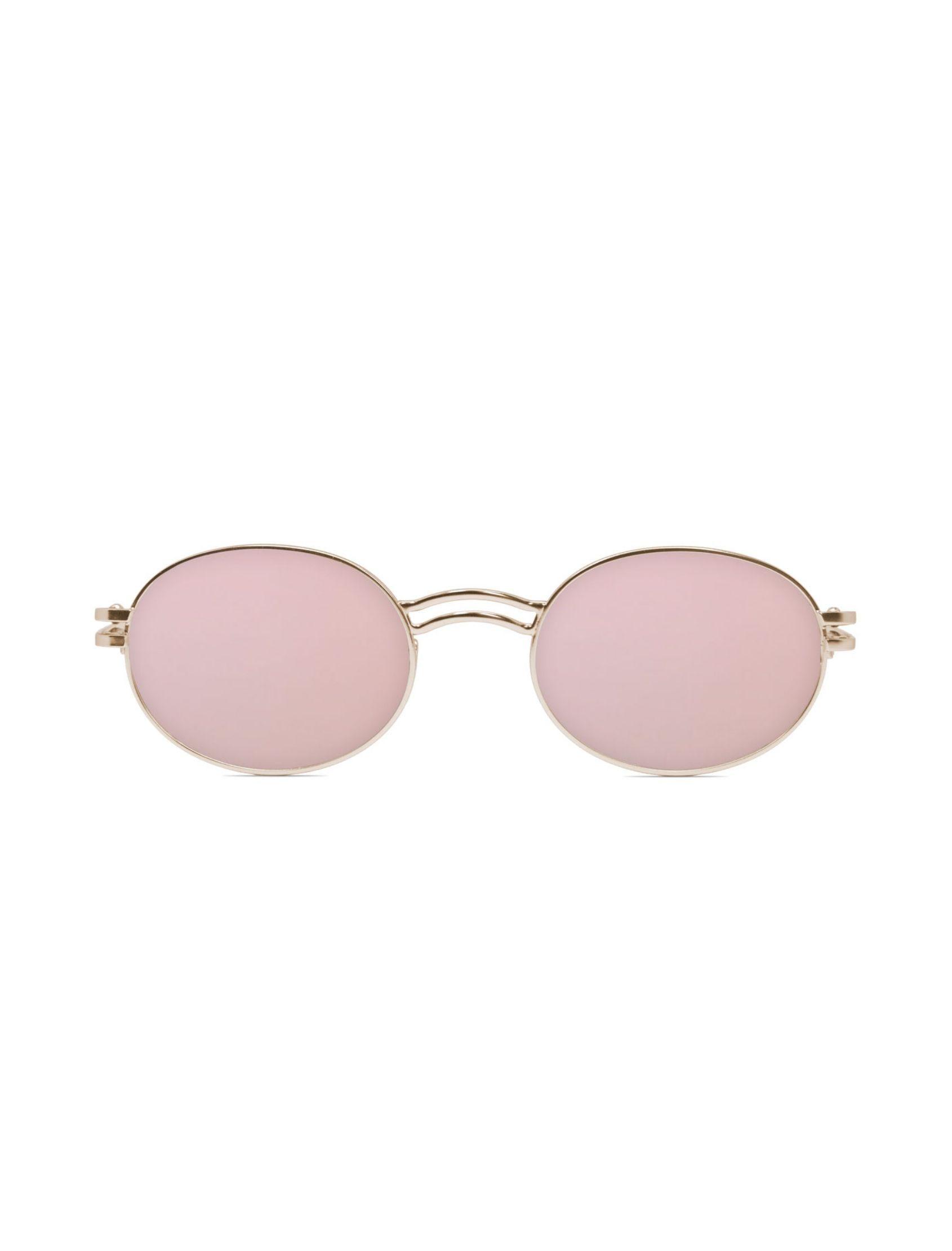 gafas de sol unisex kamy gold con cristal dorado