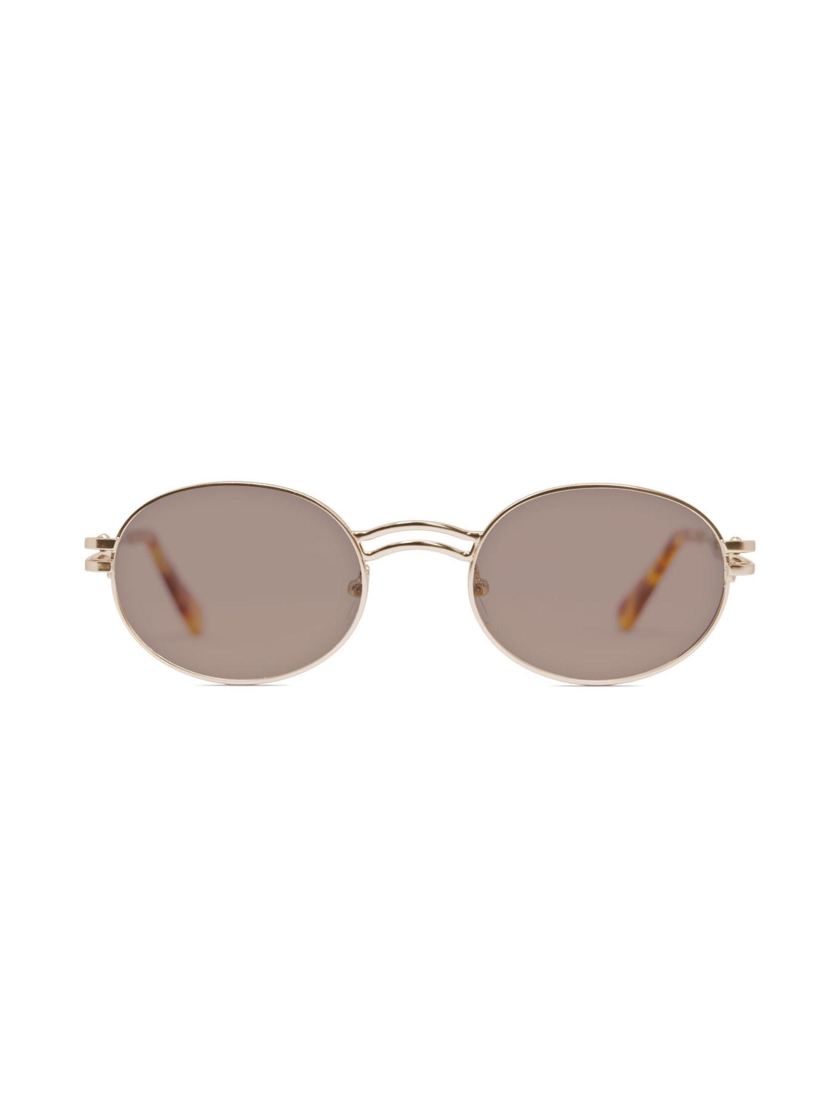 gafa de sol unisex kamy con montura dorada y lente marrón