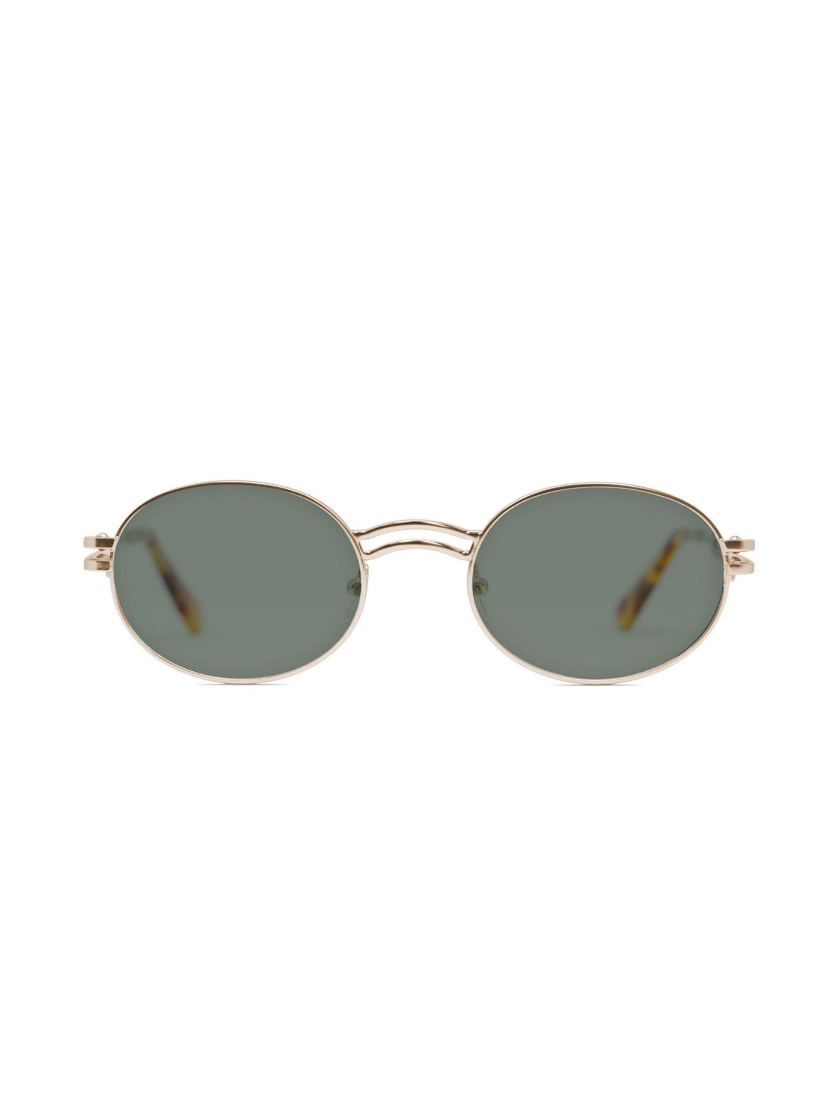 gafa de sol unisex kamy con montura dorada y lente verde