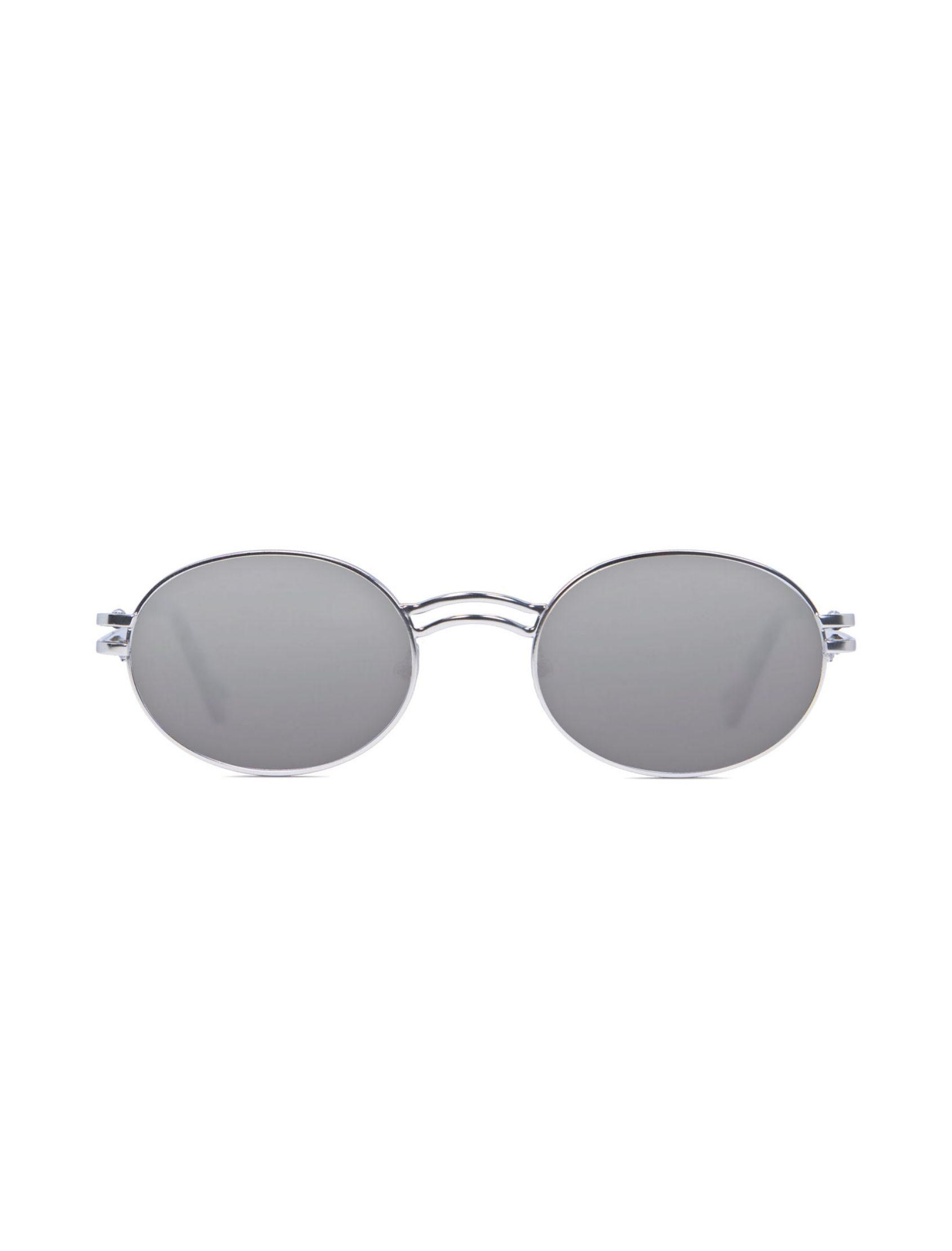 gafa de sol unisex kamy con montura plata y lente plata