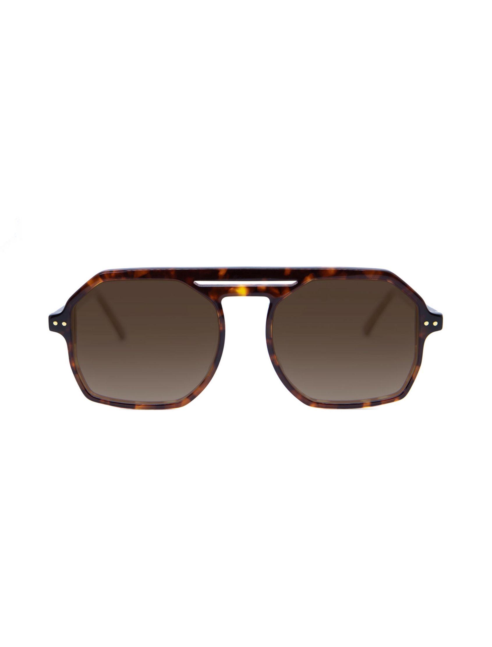 gafa de sol parton habanna unisex en tono marron con puente y lente polarizada
