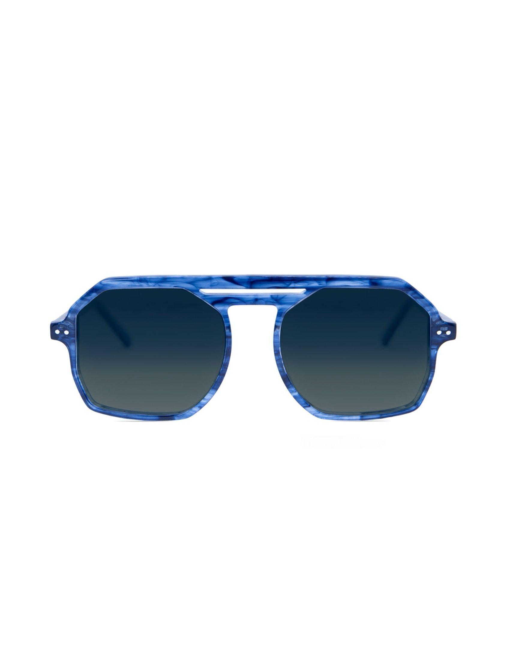 gafa de sol unisex parton neptune en tonos azul con lente polarizada y puente