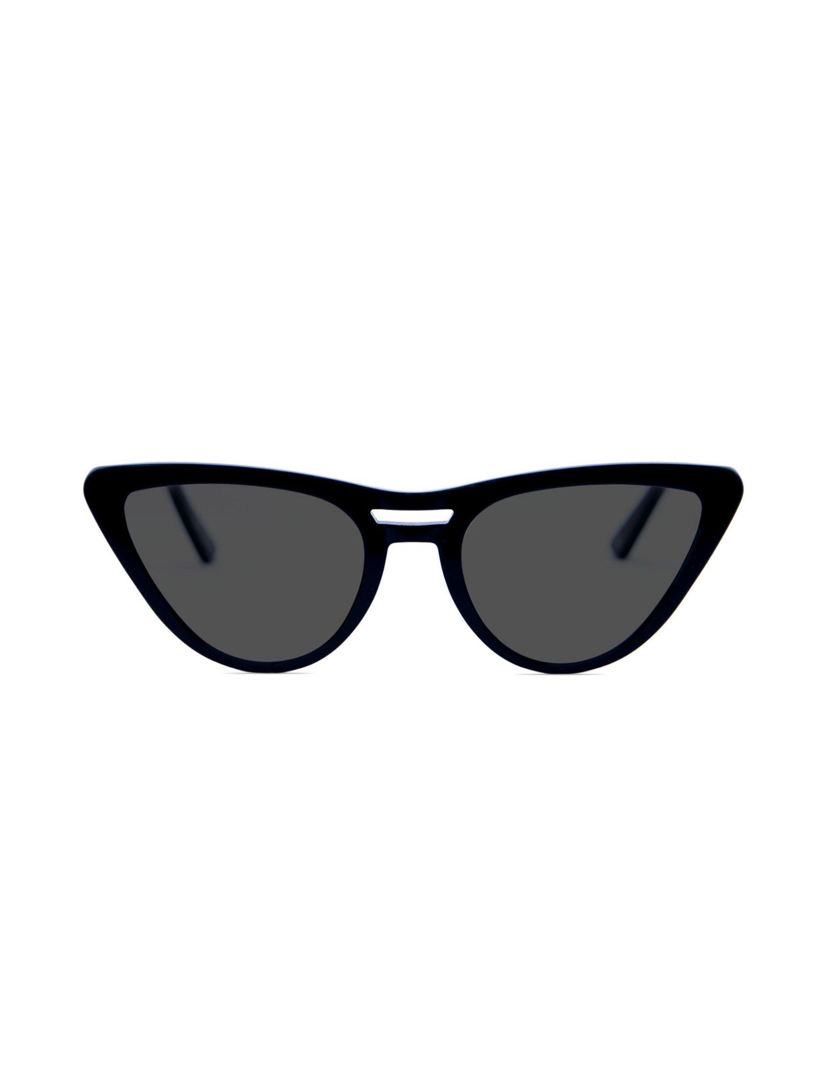 Gafas Vilma Blacky con montura de pasta negra y efecto ojo de gato
