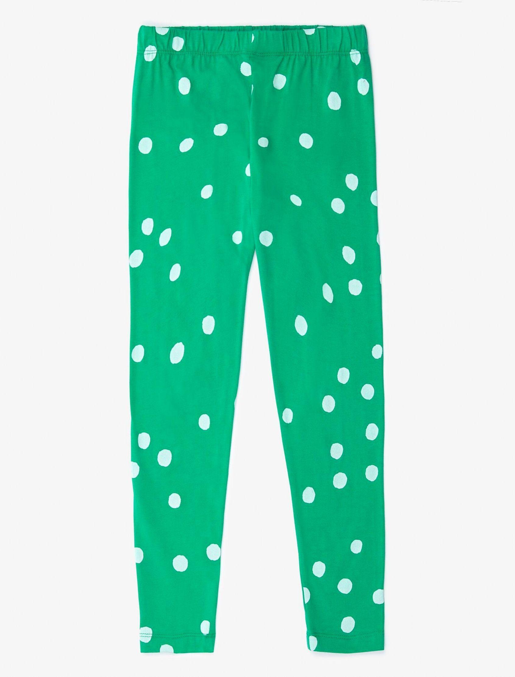 legging verde de lunares blancos de nadadelazos