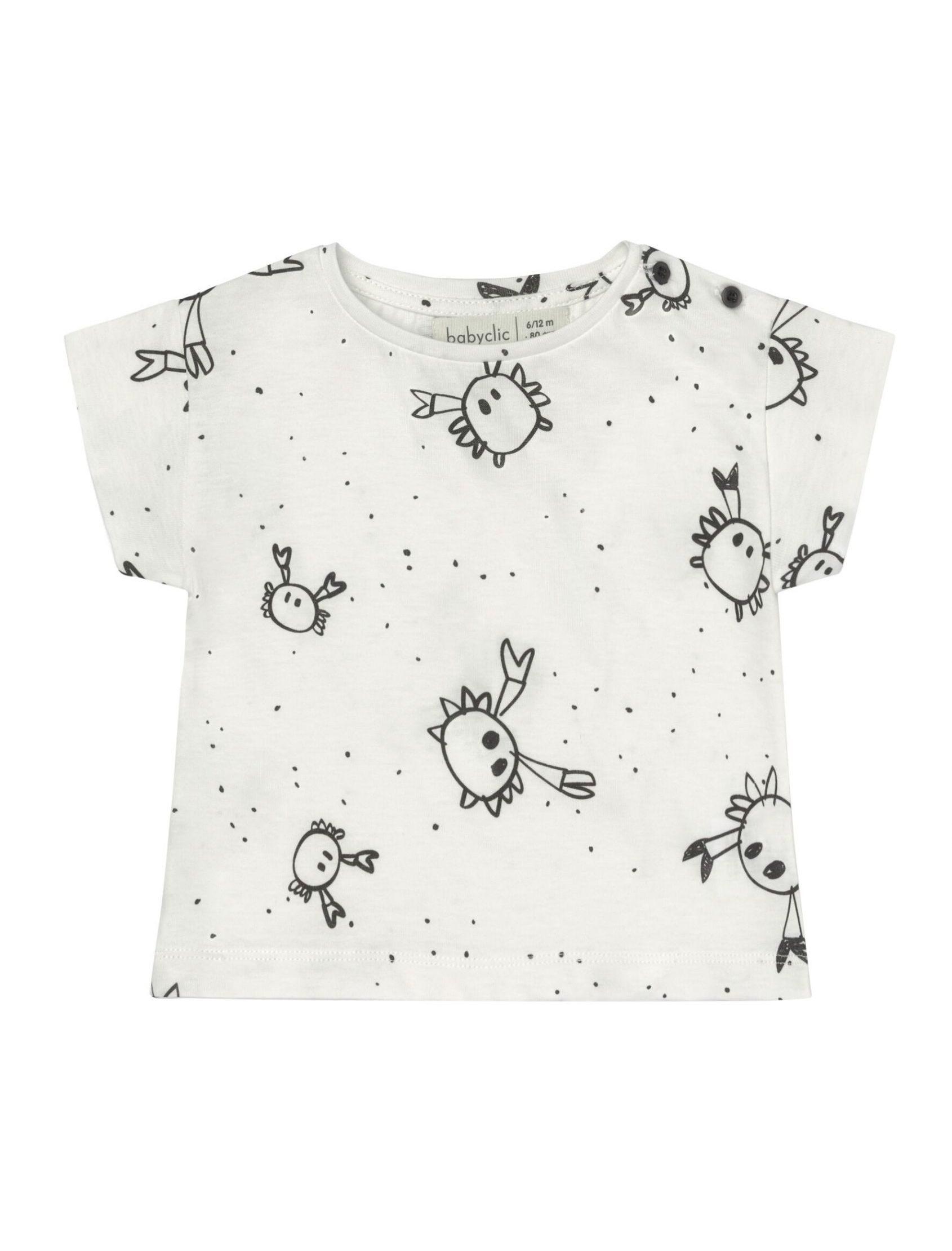Camiseta de manga corta con estampado crabs de la marca baby clic