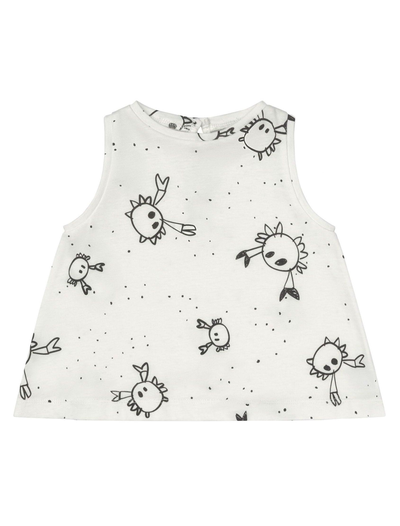 camiseta de niña sin mangas con estampado crabs de la marca baby clic