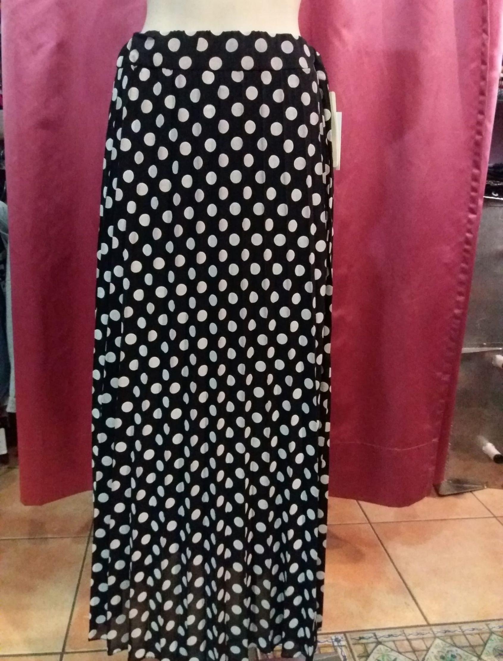 falda larga mujer con estampado de lunares
