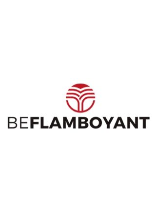 logo vertical de la mrca beflamboyant