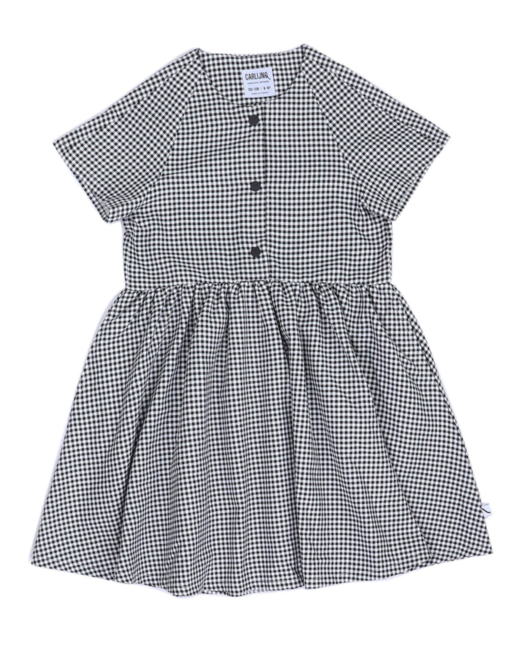 vestido niña con mini cuadros vichy de carlijnq