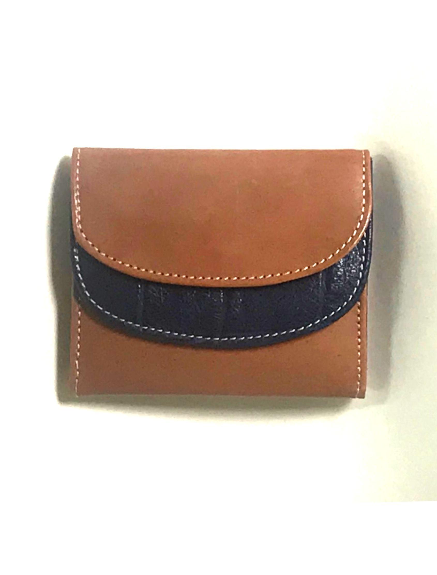 mini cartera billetera de señora de piel cuero-azul