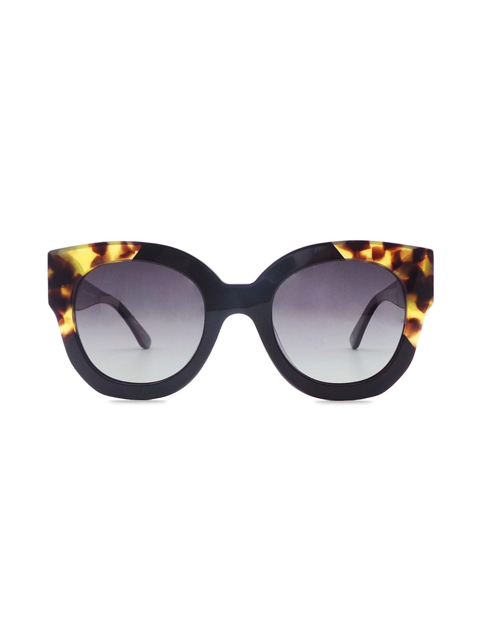 gafa gretel donna de pasta con lente polarizada negro y detalle carei en montura