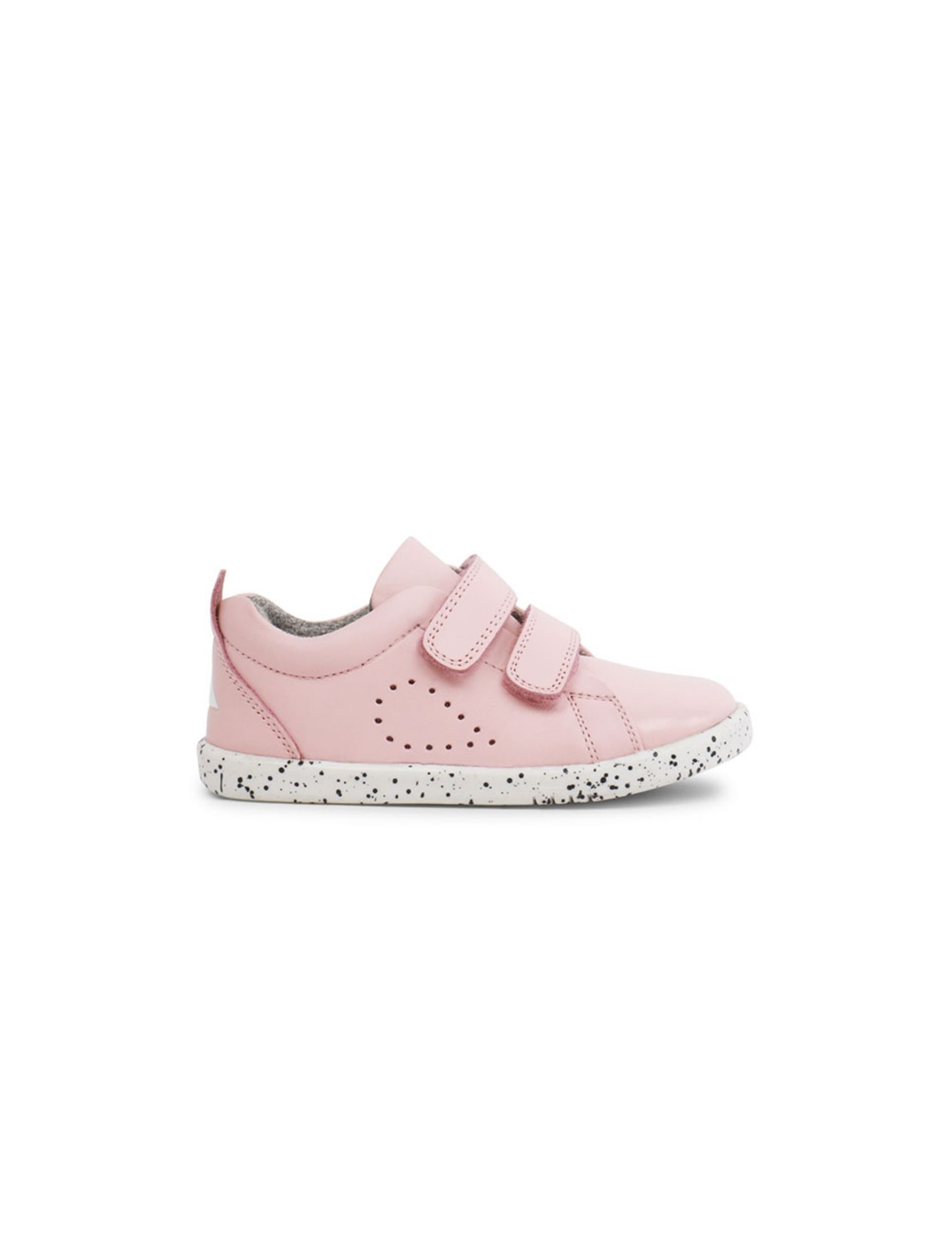zapatilla de niña grass court trainer en color rosa con velcro y suela blanca