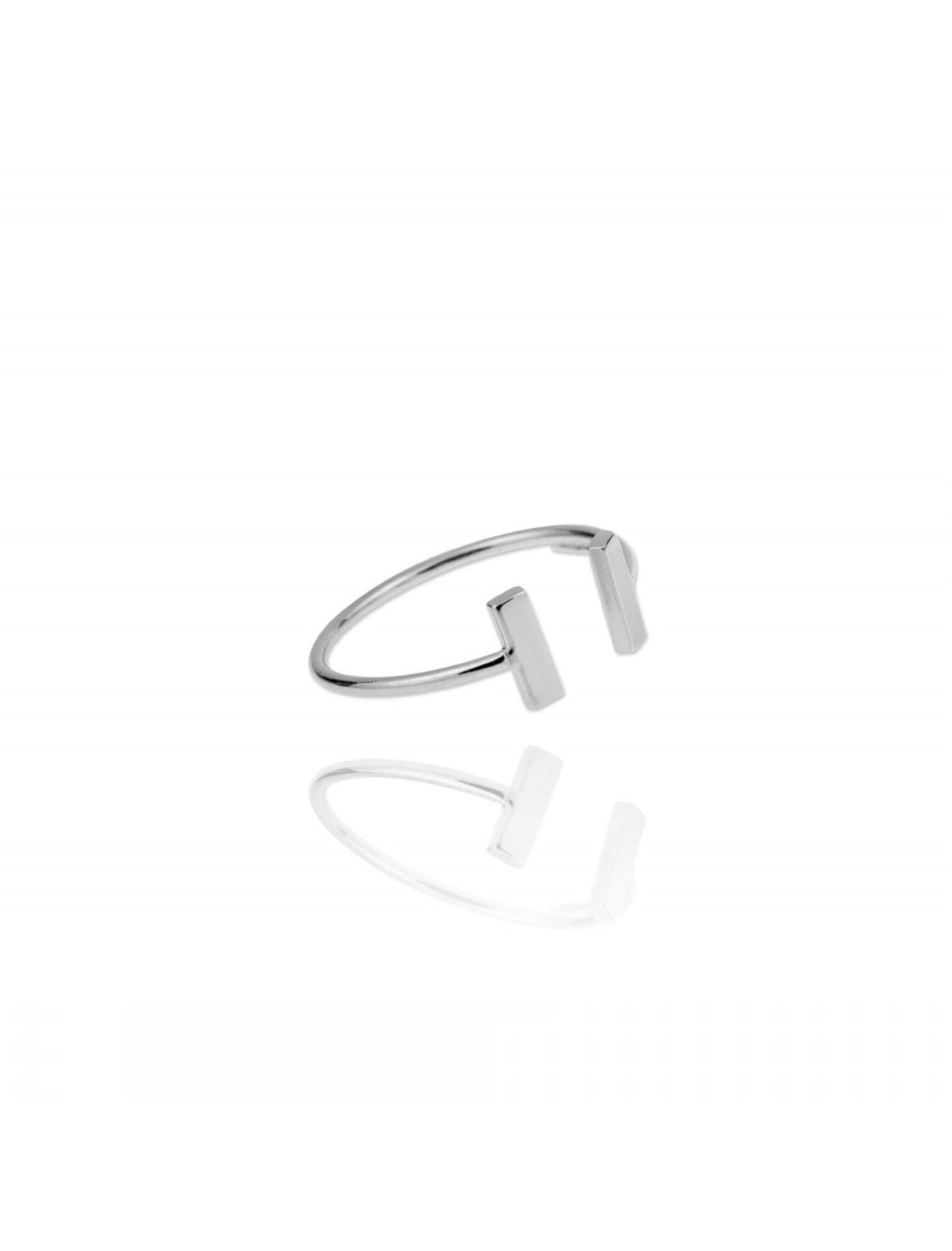 anillo ajustable de plata de ley