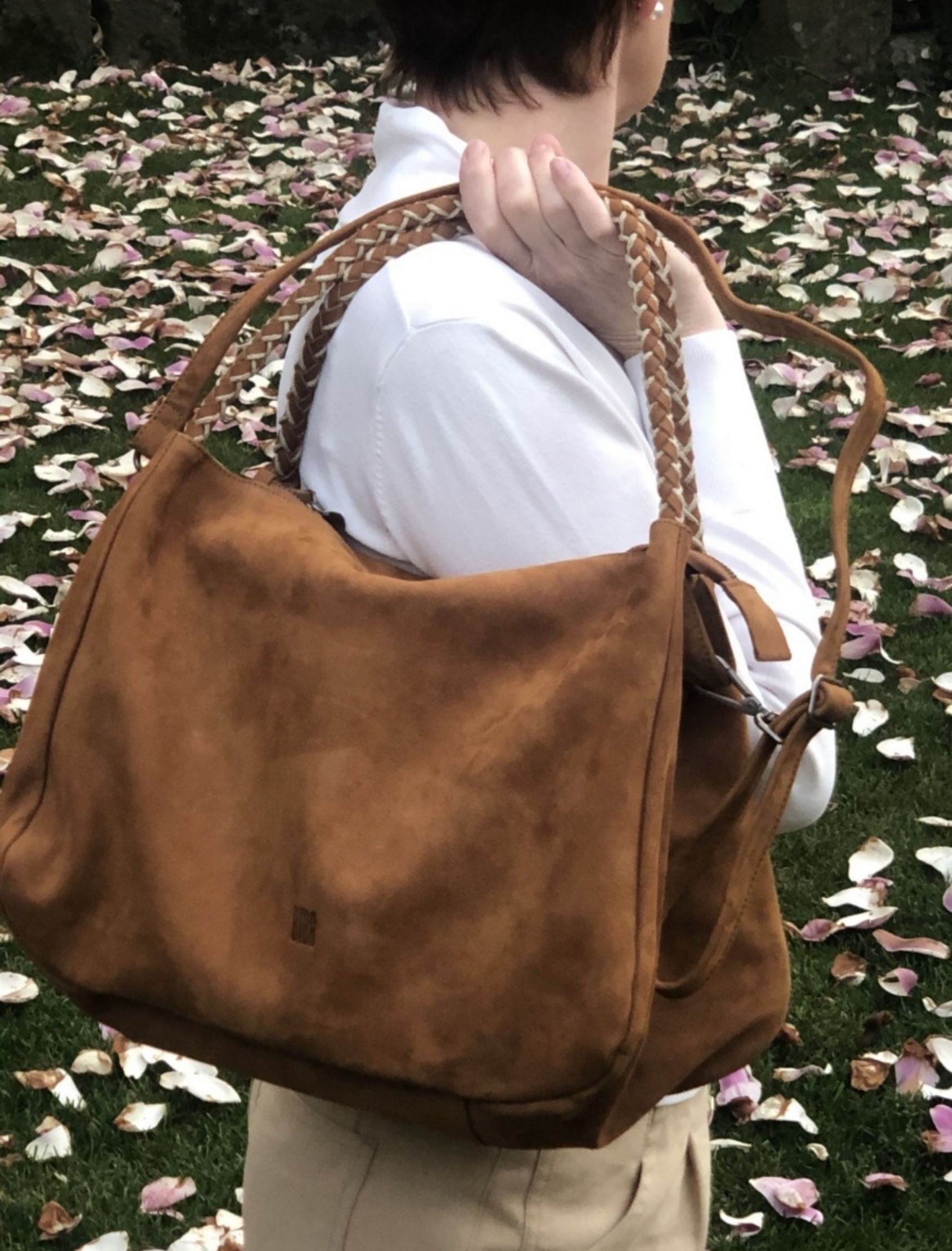 Bolso de mujer en piel modelo avon color cuero