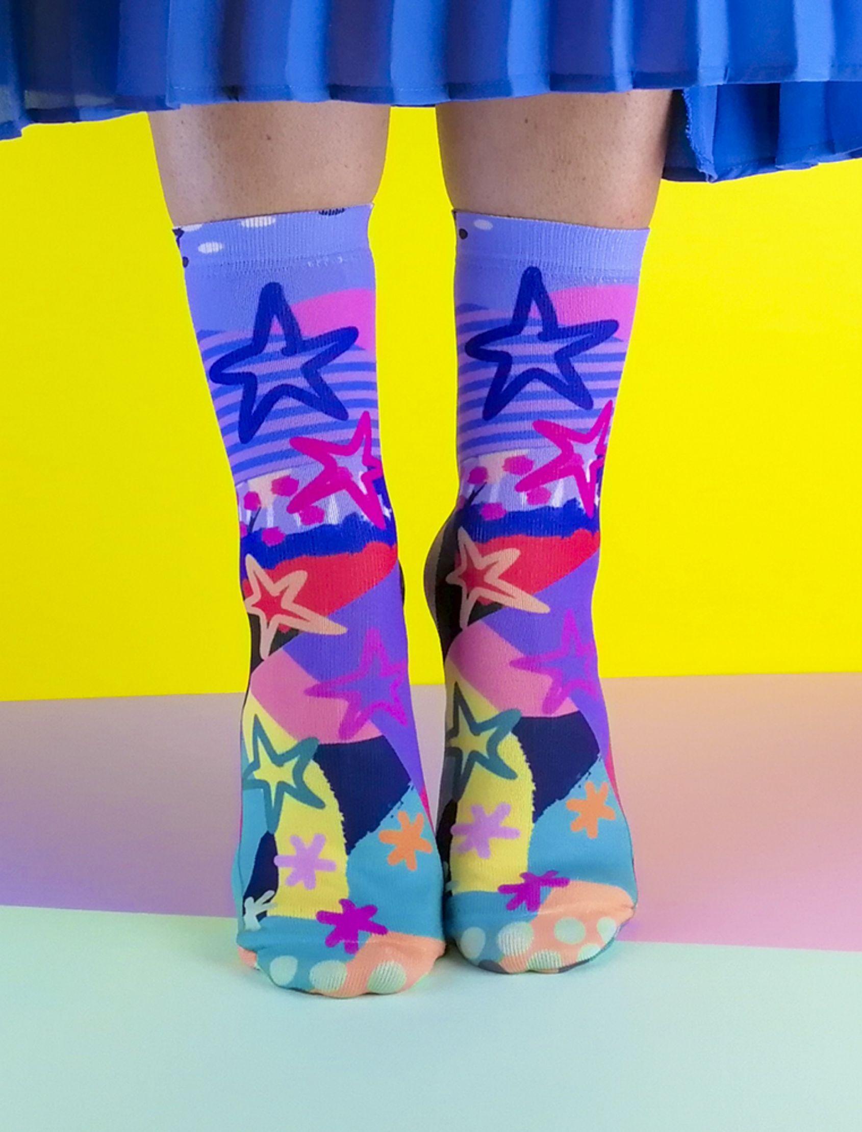 calcetines jump con estampado multicolor de estrellas