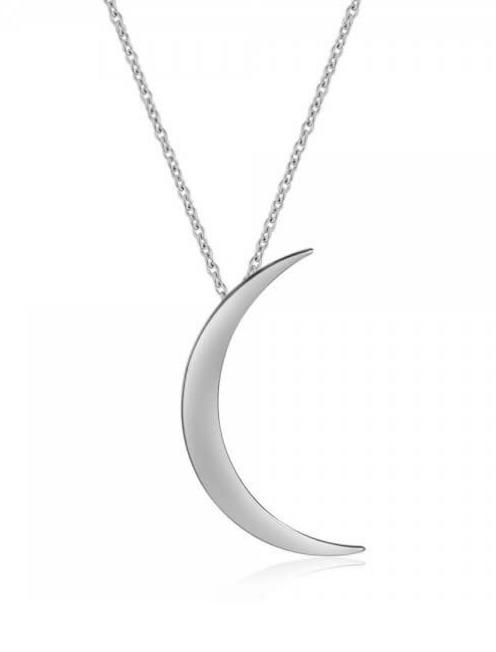 colgante moon con medalla de plata con forma de luna