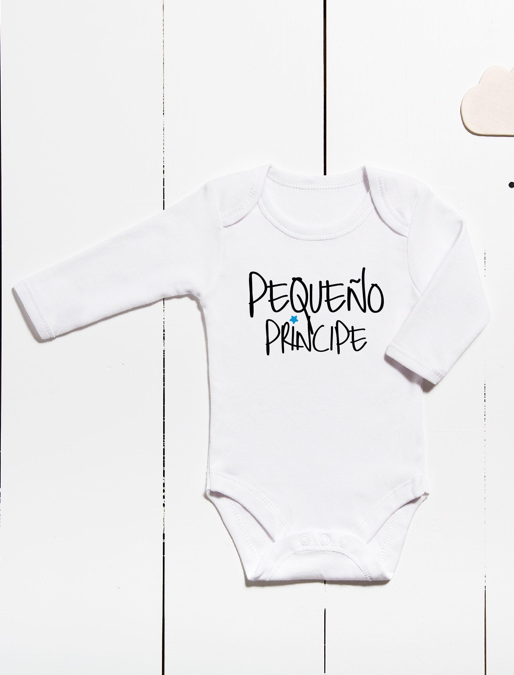 Body para bebés ml con mensaje pequeño principe