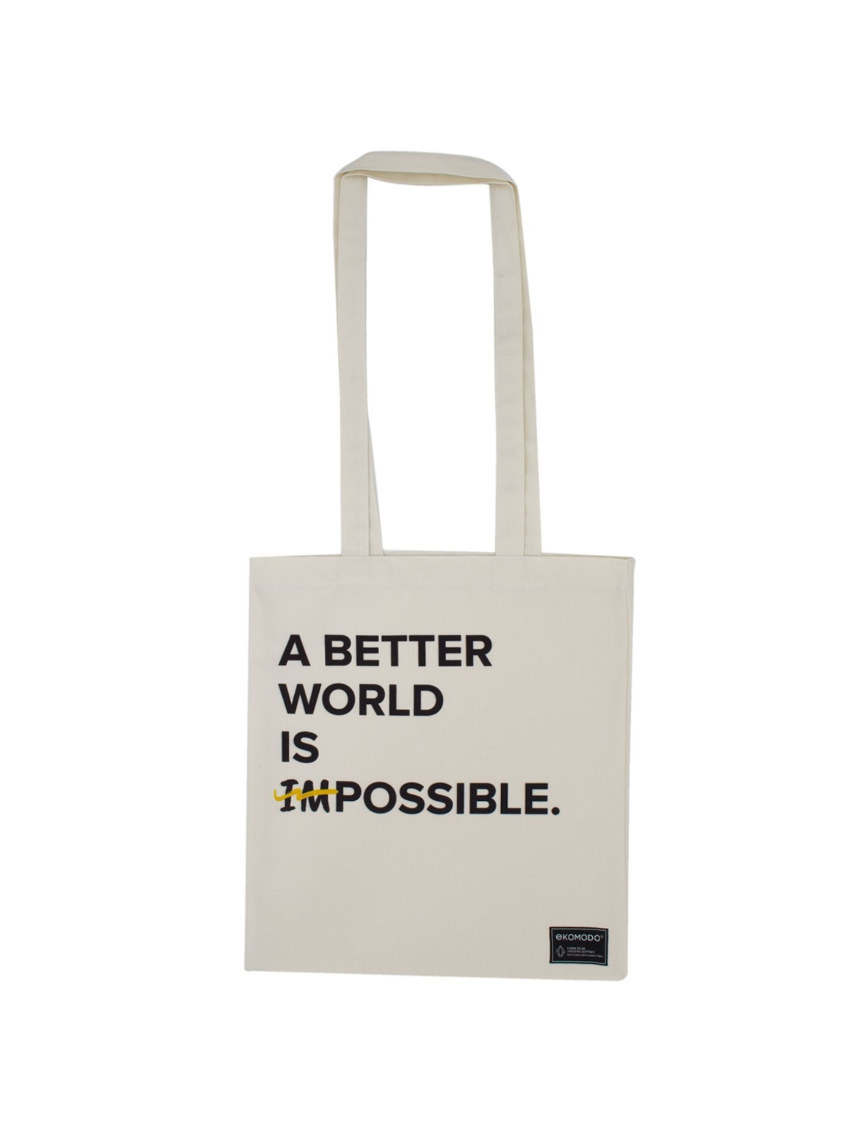 bolso tote bag dana con mensaje a better world is possible
