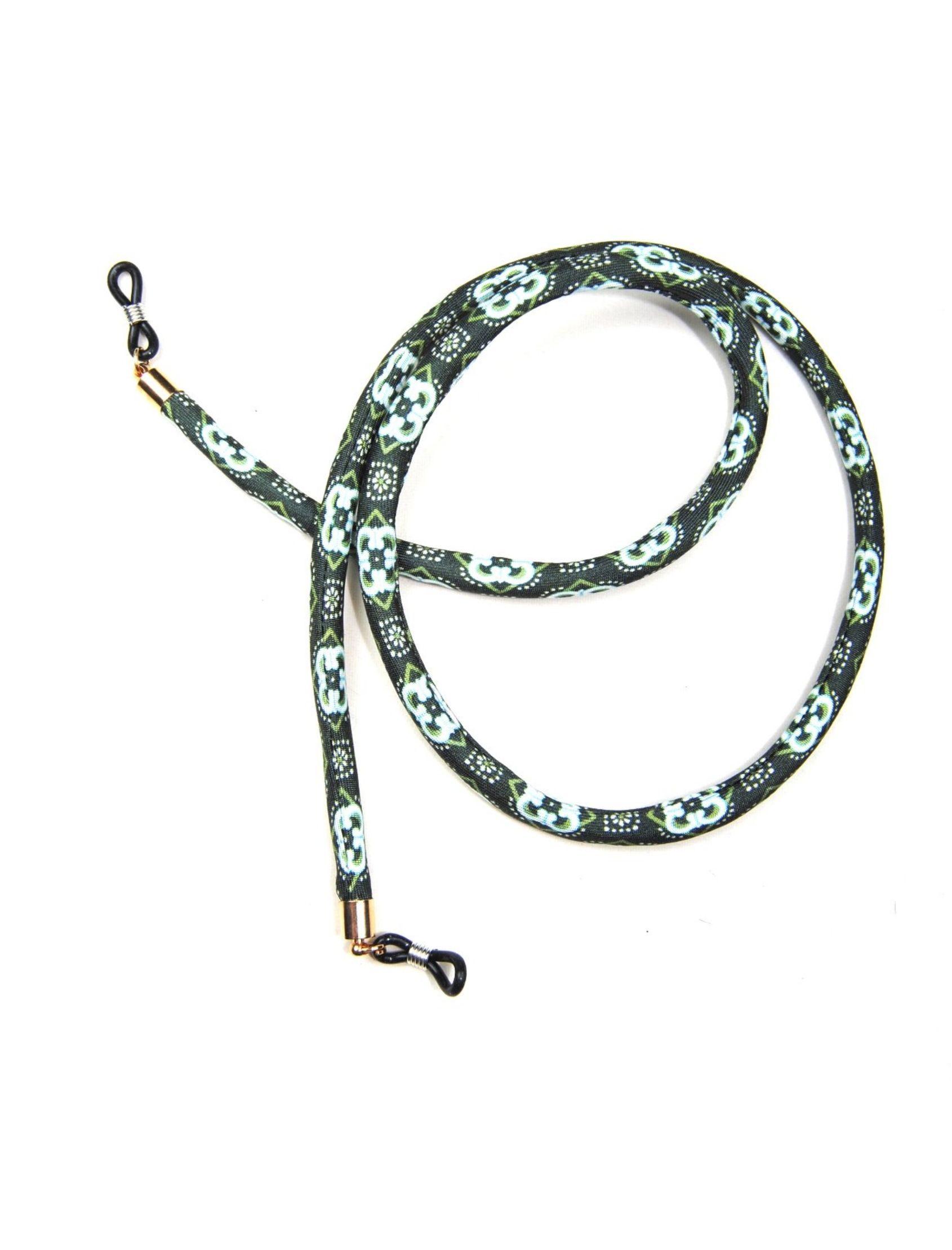 cordón de gafas pradera en el lago con estampado en color verde y azul