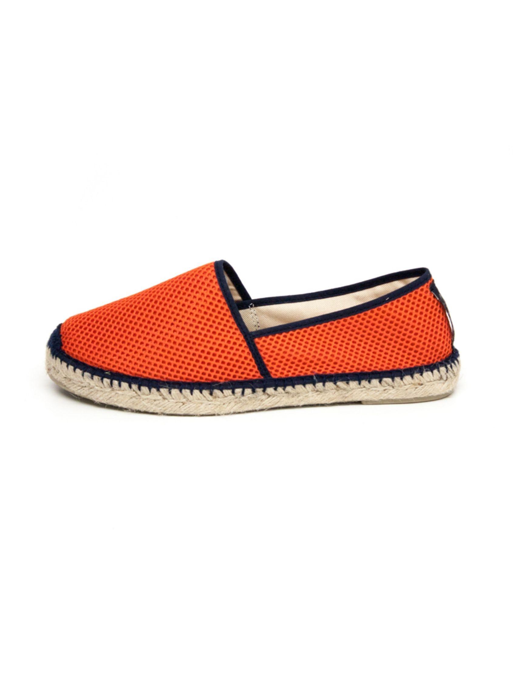 alpargata sport orange con tejido técnico y esparto diseño unisex