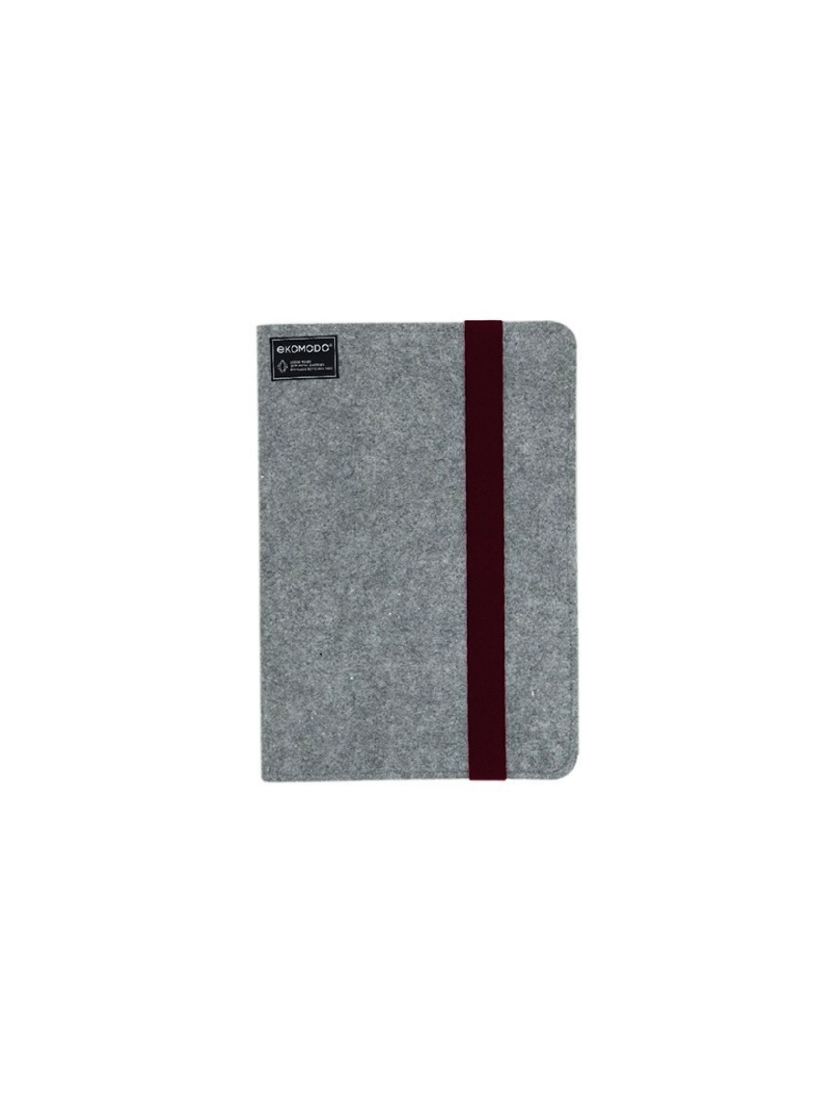 carpeta ofis regular en color gris con fajin de goma granate ideal para documentos o para tablets y portátiles hasta 13""