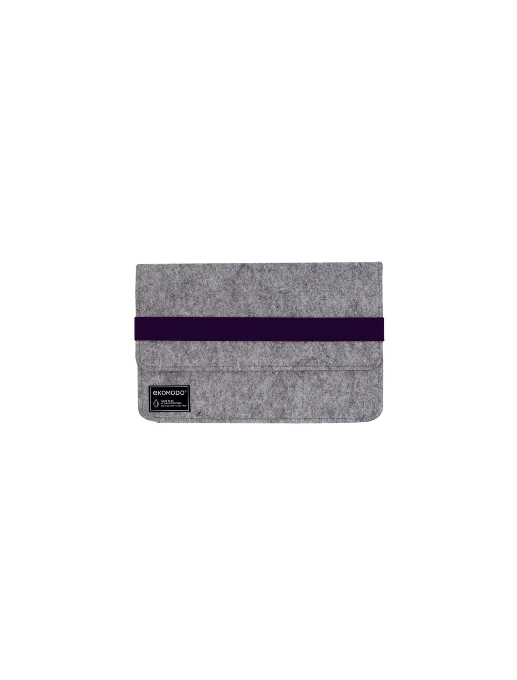 funda hazi mini en color gris con cinta navy blue ideal para tablets