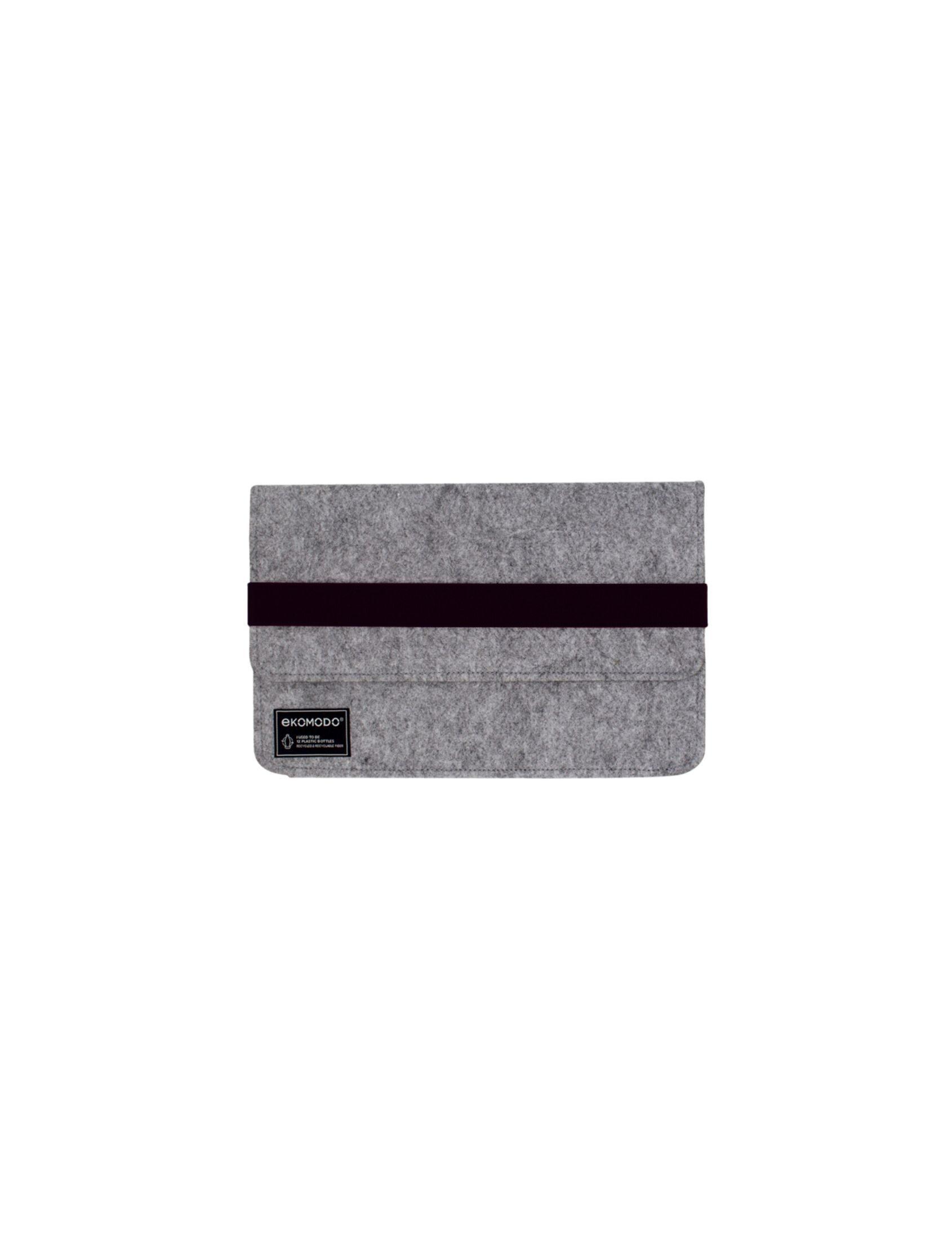 funda hazi mini en color gris con fajín black ideal para tablets con tejido reciclado de botellas de plástico