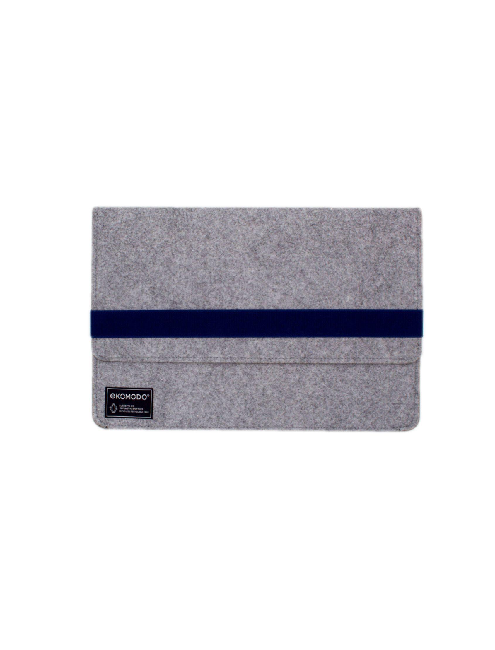 funda para portátil hazi regular en color gris con fajín azul