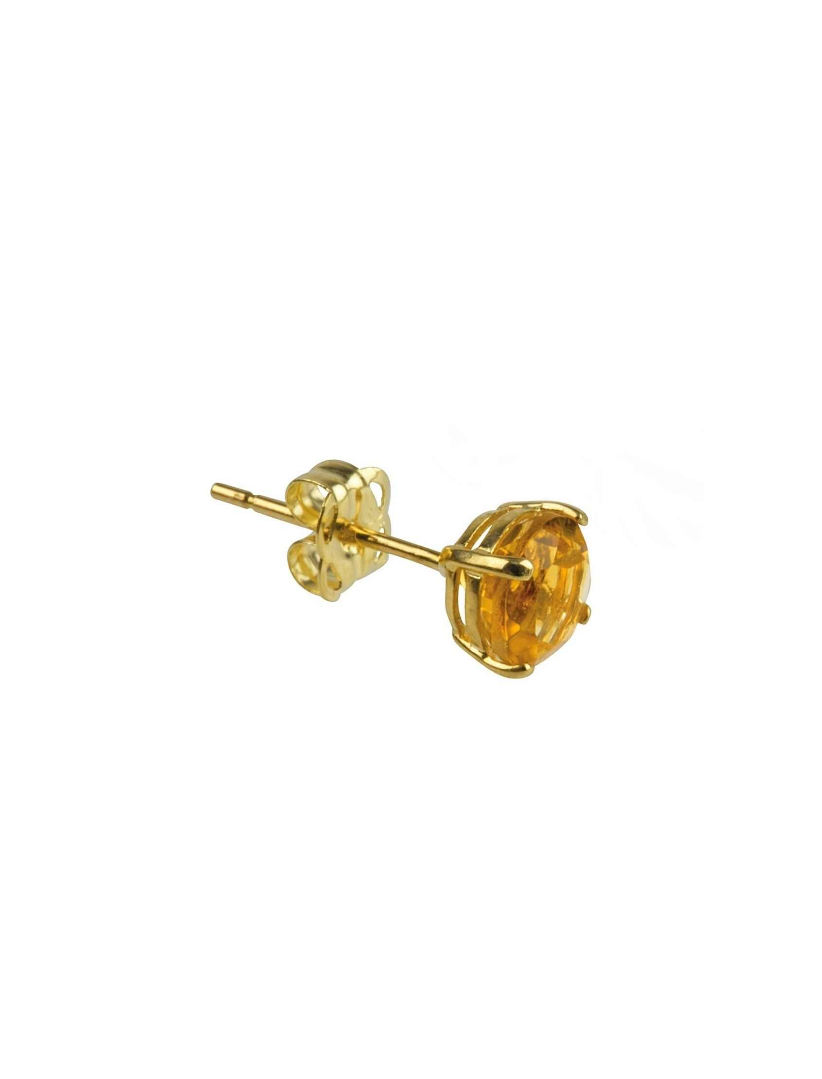mini pendiente oro amapola con circonita dorada