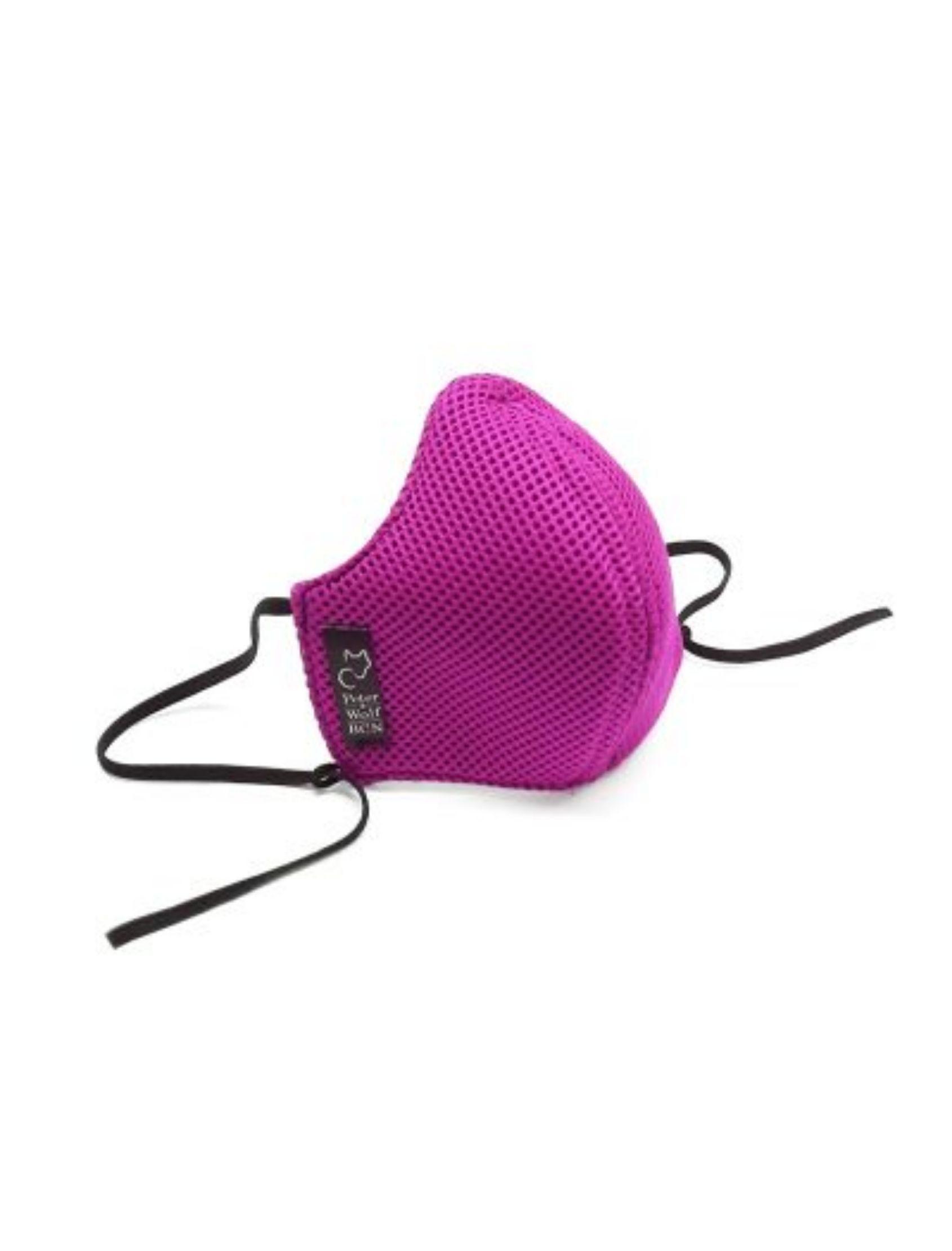 mascarilla reutilizable sport pink on tejido homologado y técnico de peter & wolf