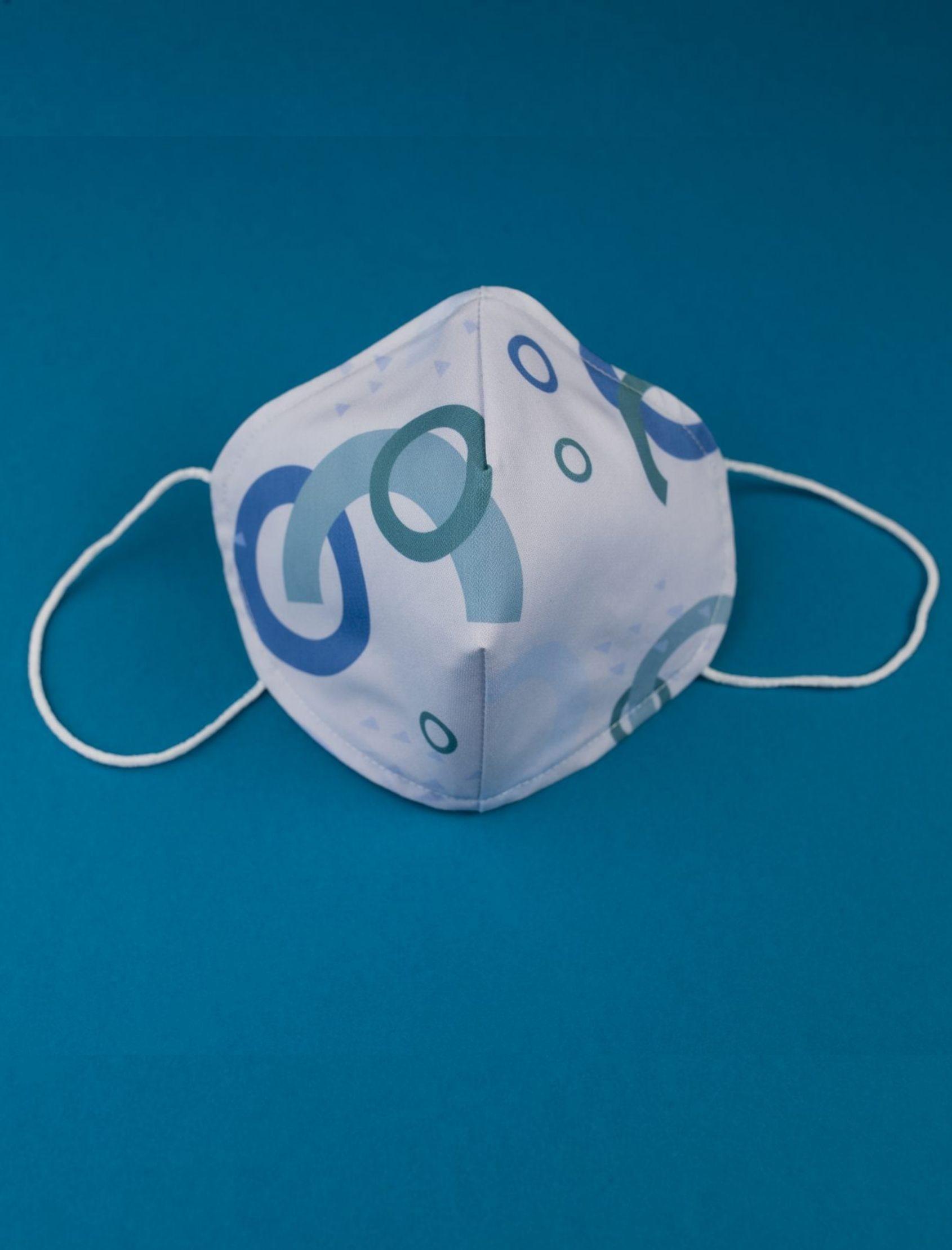 mascarilla para chico reutilizable ocn tejido homologado y estampado water