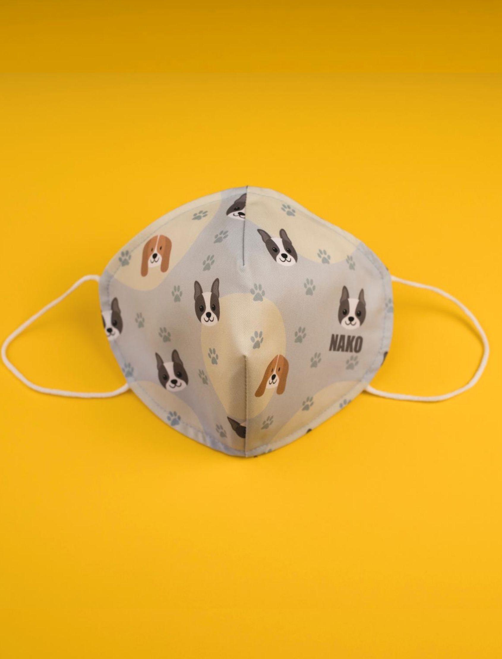 Mascarilla MAya reutilizable homologada con estampado de perros nako mask