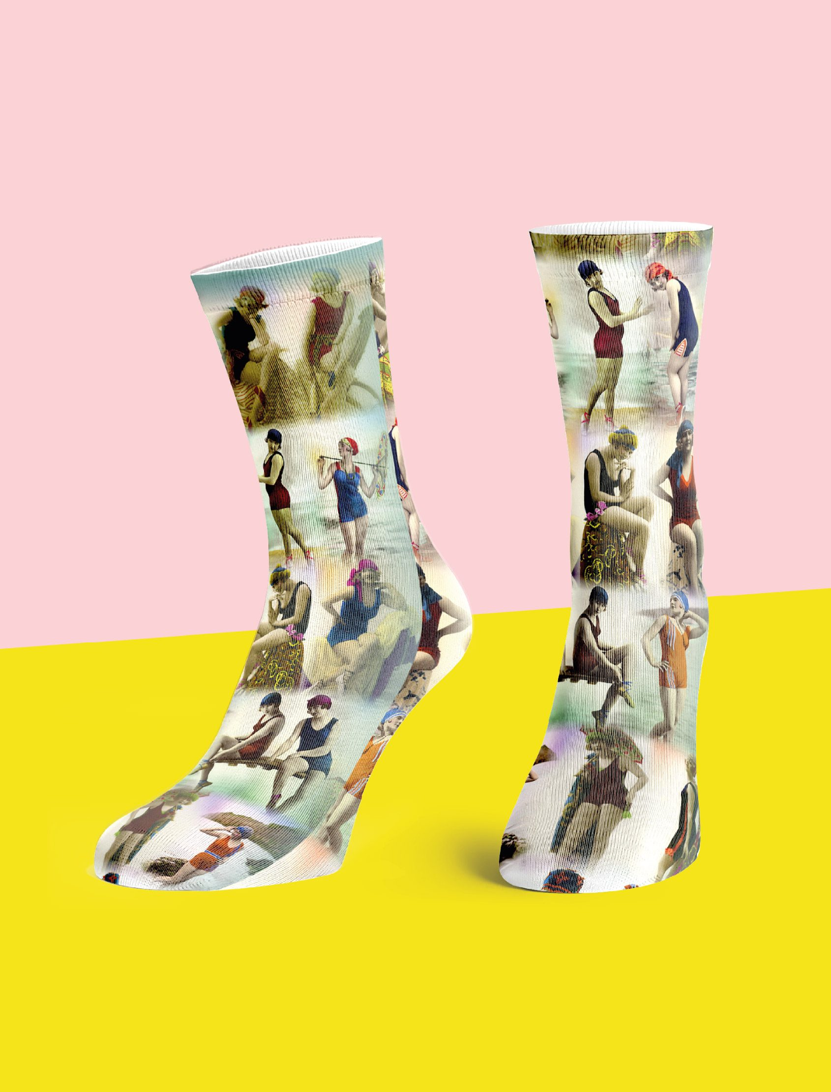 calcetines Bañistas sweetparip multicolor