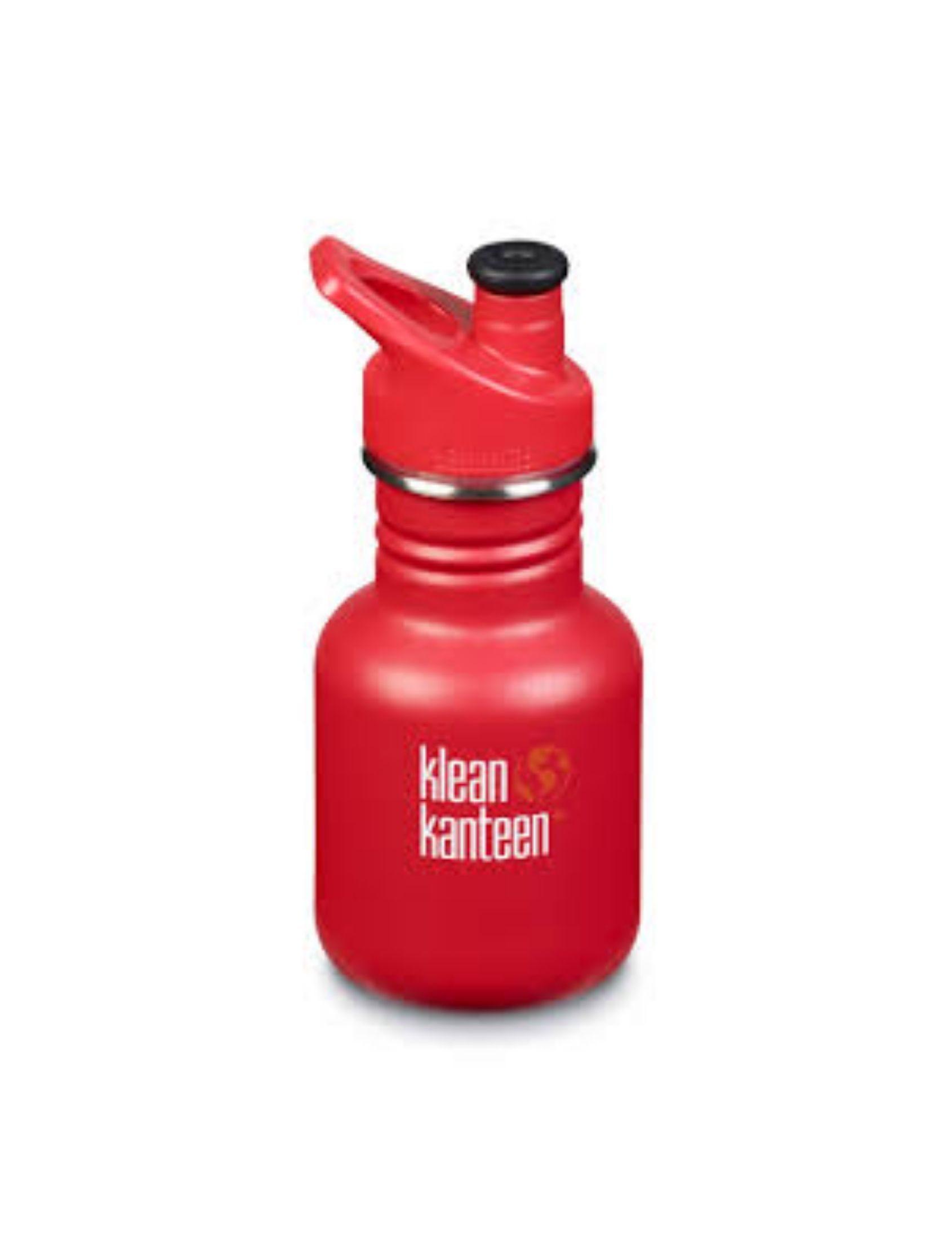 botella kids sport cup de klean kanteen en color rojo
