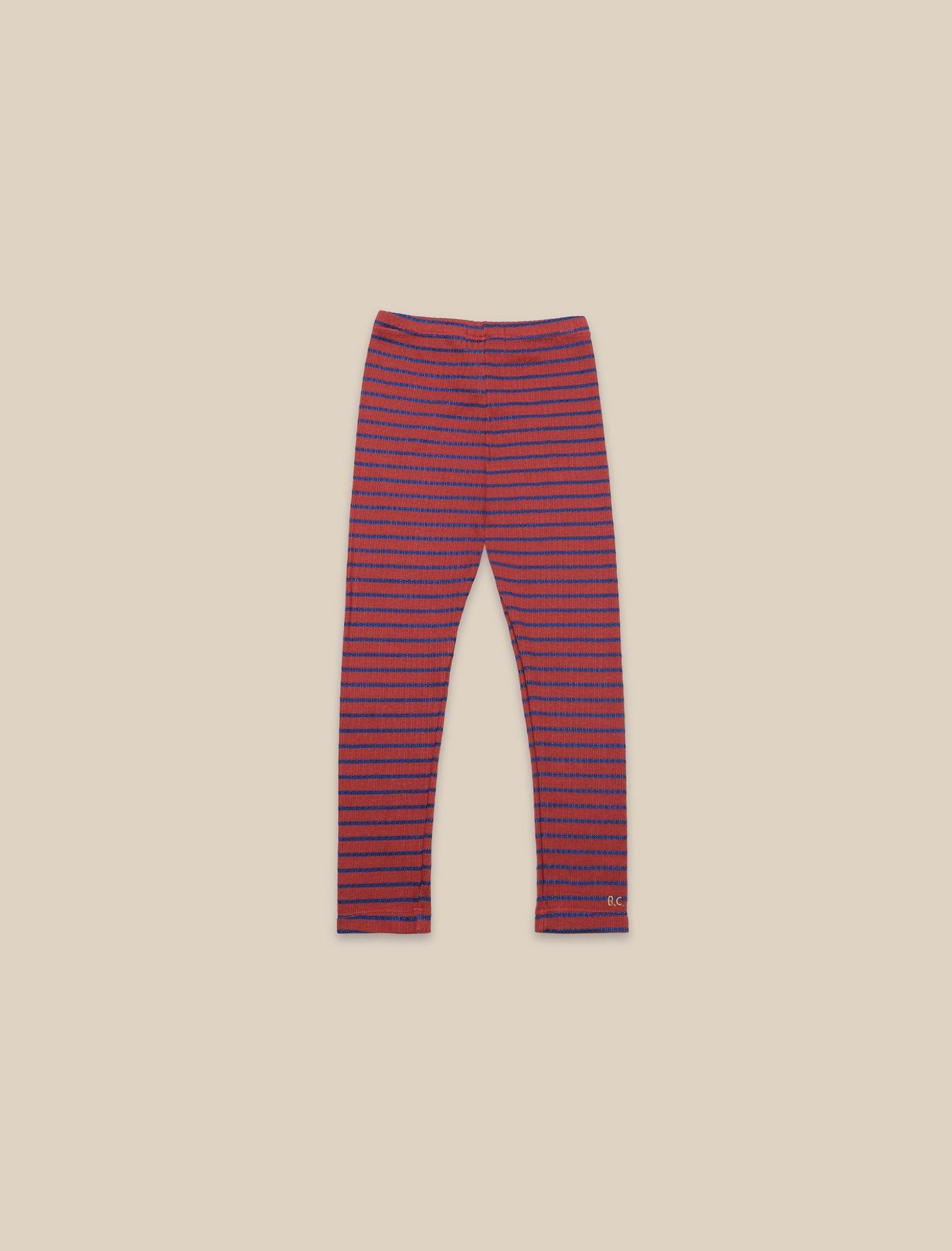 pantalón estilo leggings con estampado de rayas stiped multicolo para niño y niña de bobo choses