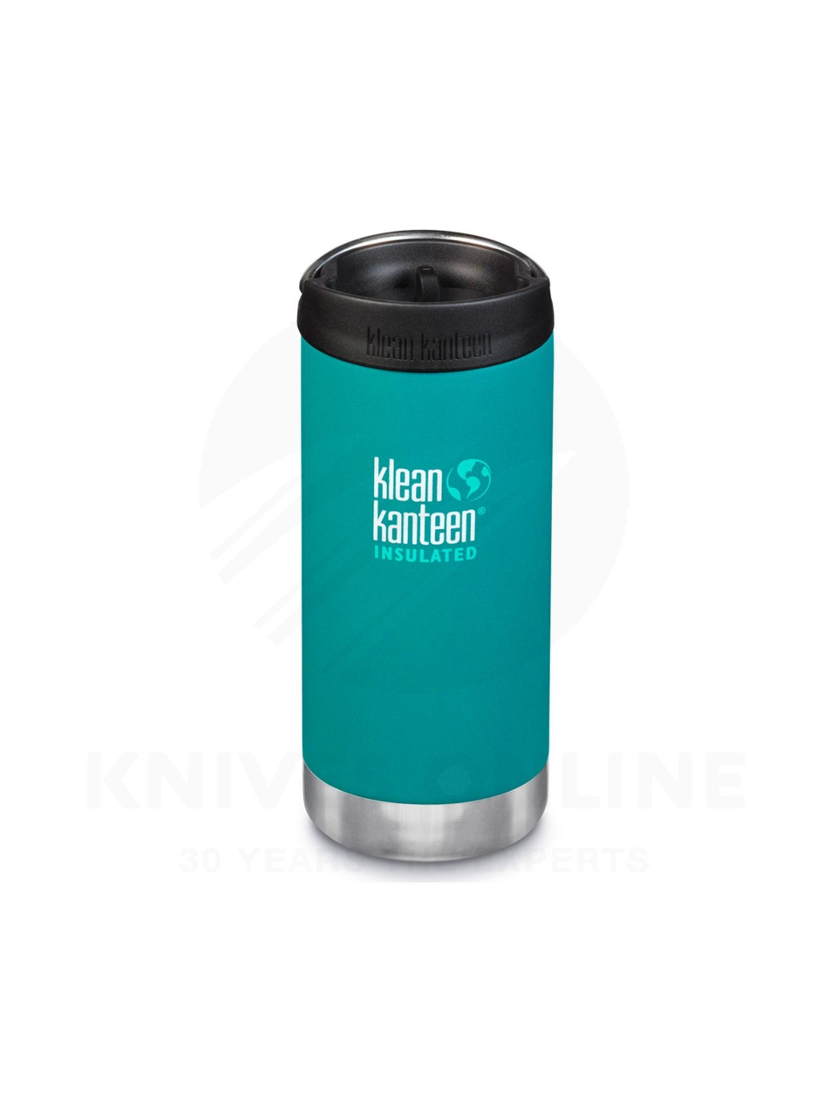 termo cafe 355 ml en color verde de la marca klean kanteen