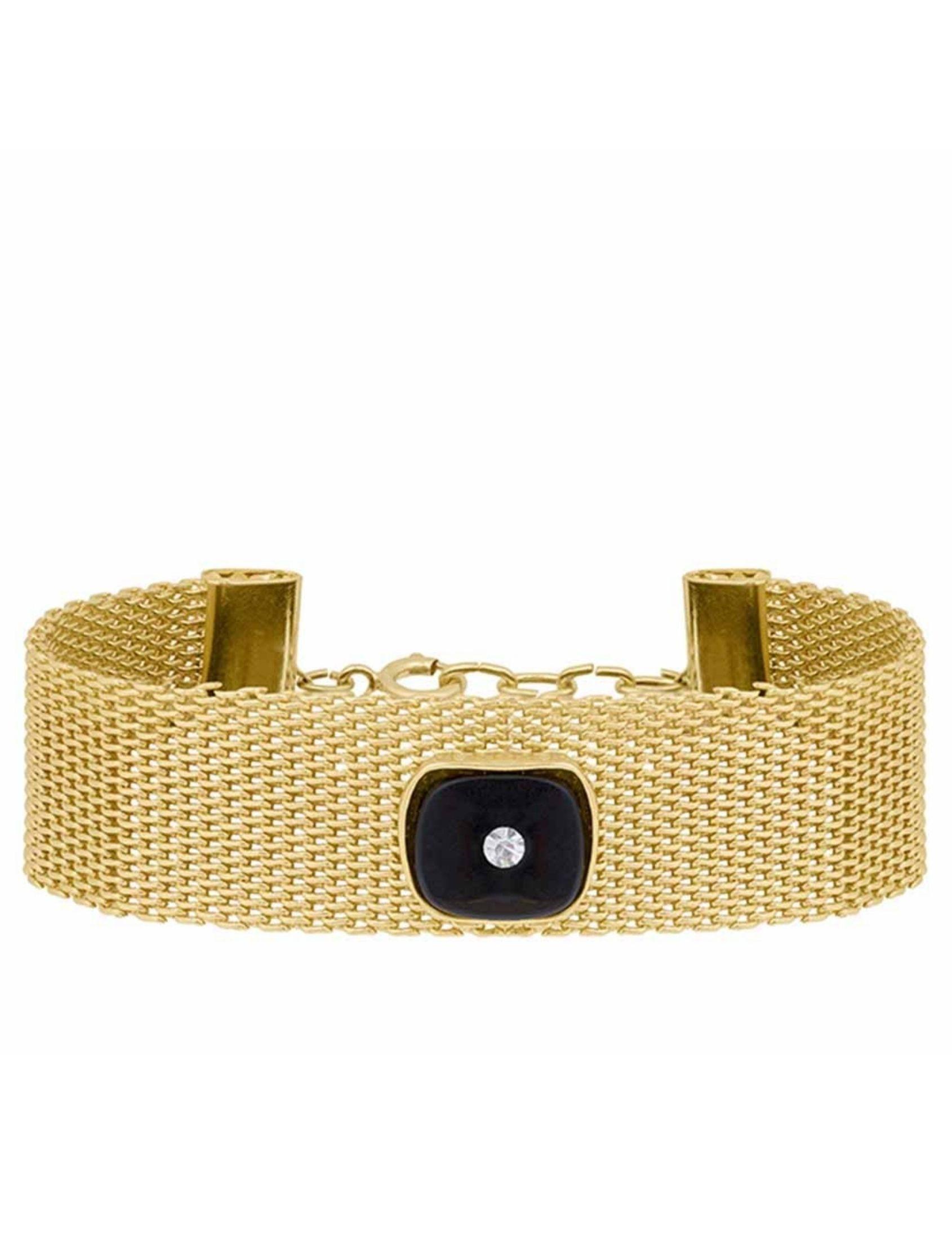 choker titanic de la marca omitouch en color oro con detalle de onix y brillante