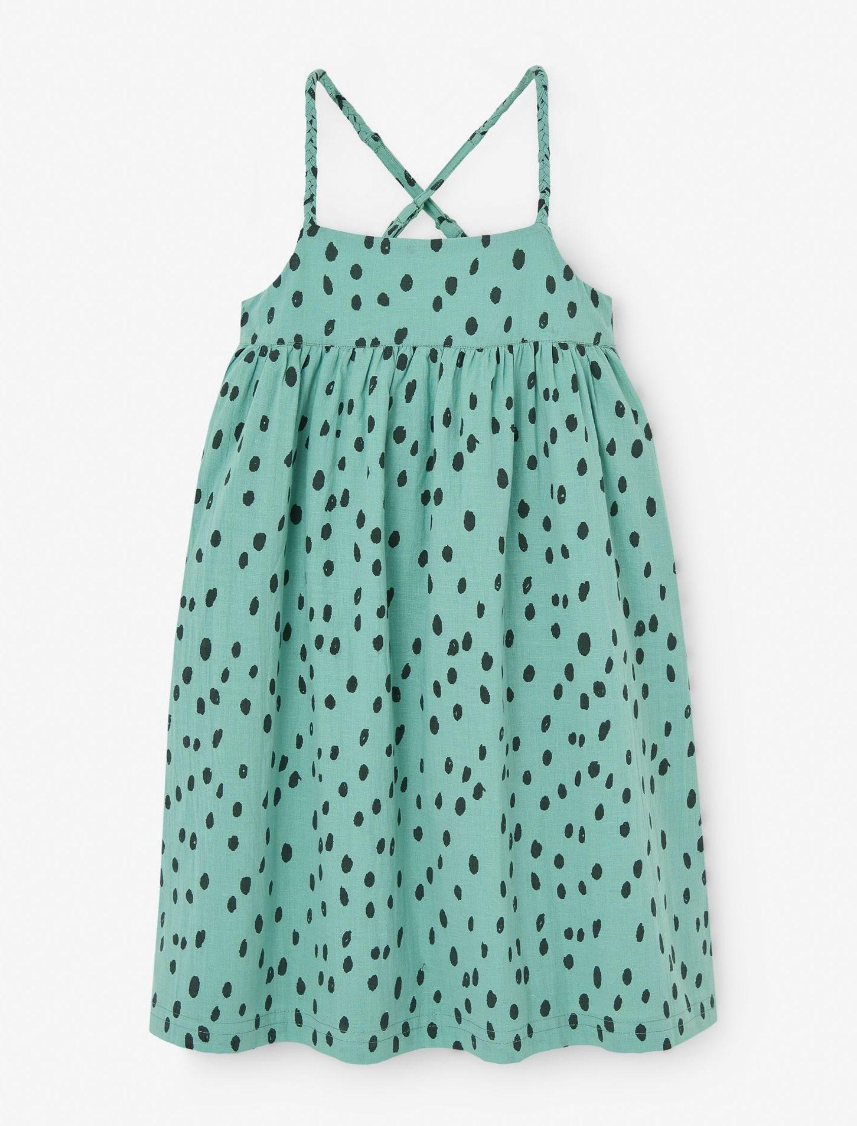 vestido semillas verde