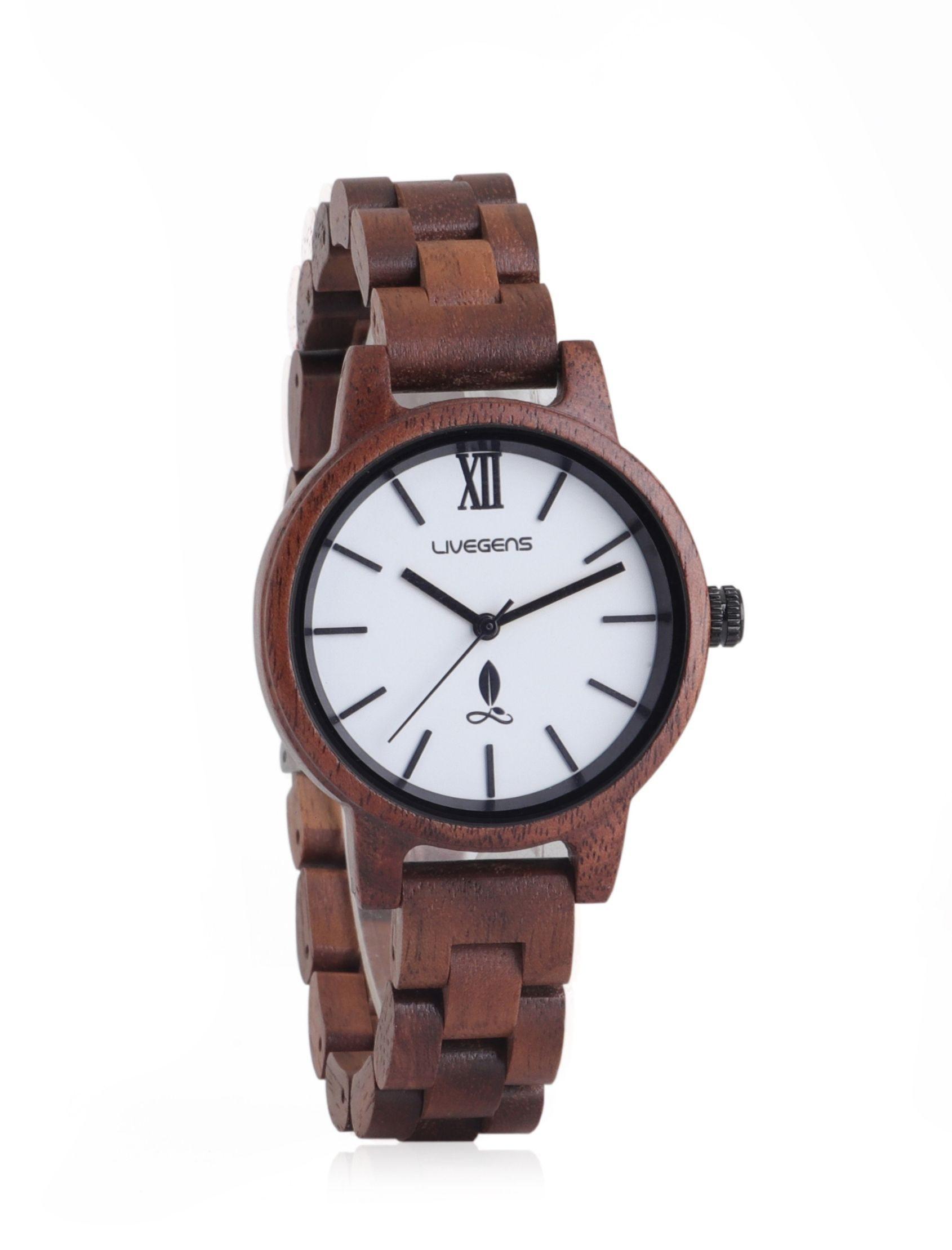 reloj livegens amazonas con madera de nogal